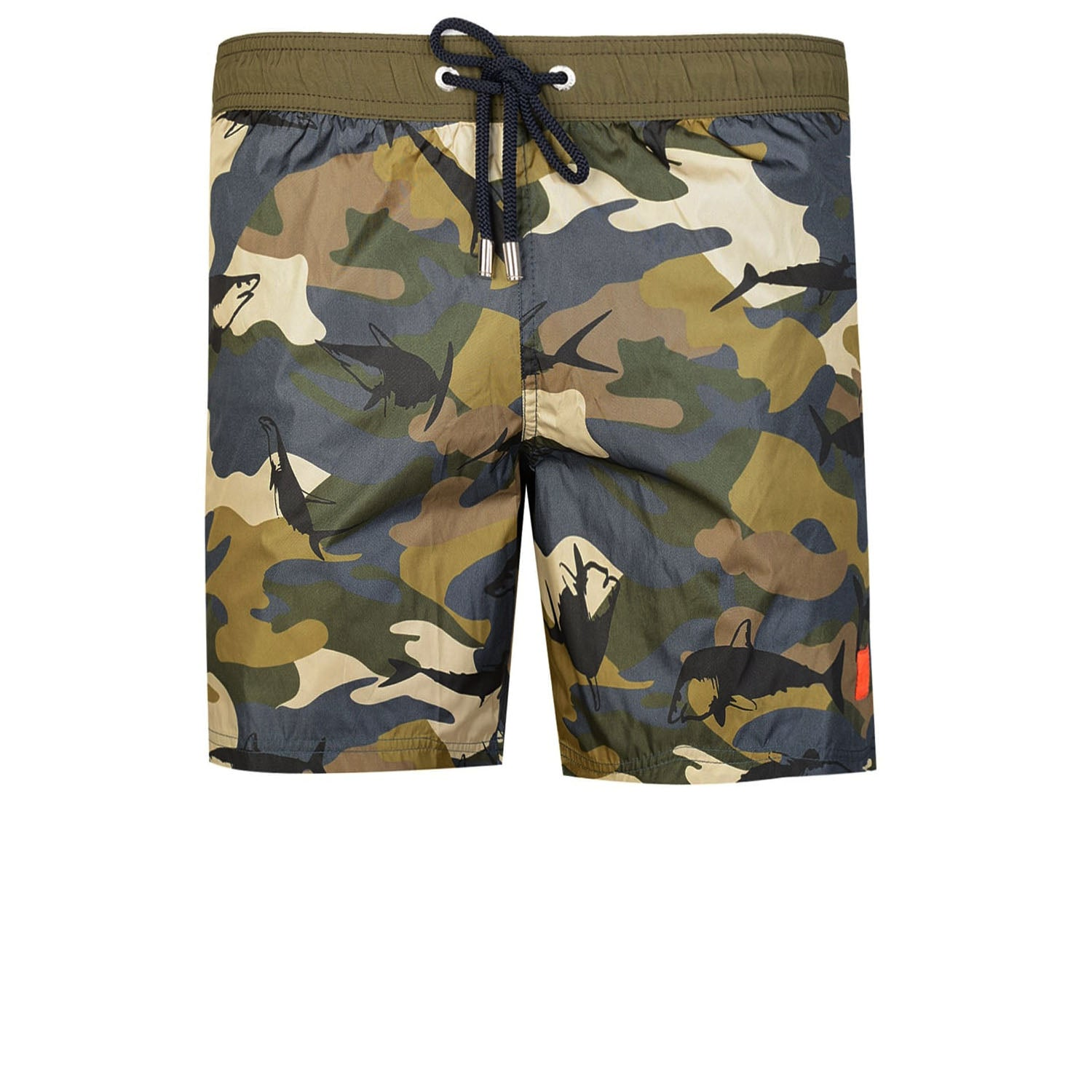 Paul & Shark Camo Shark Printed Swim Shorts