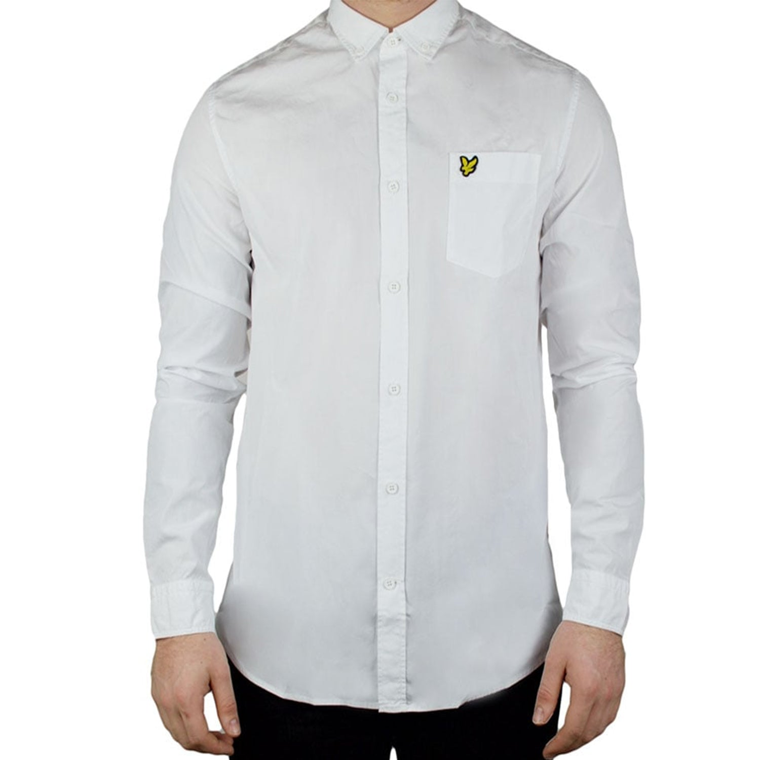 Lyle & Scott Long Sleeve Garment Dye Shirt