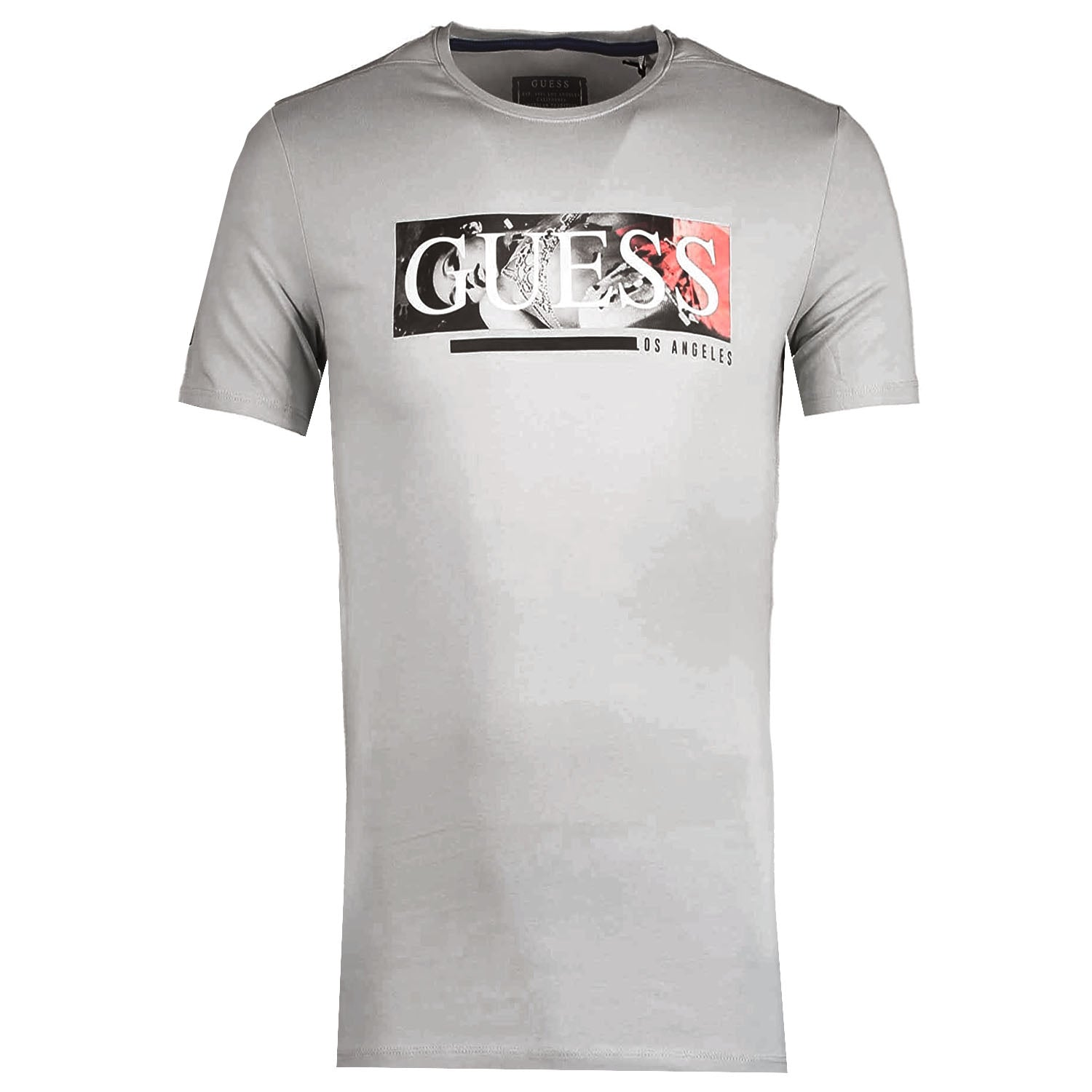 Guess Extra Slim Fit Front Logo Printed T-Shirt