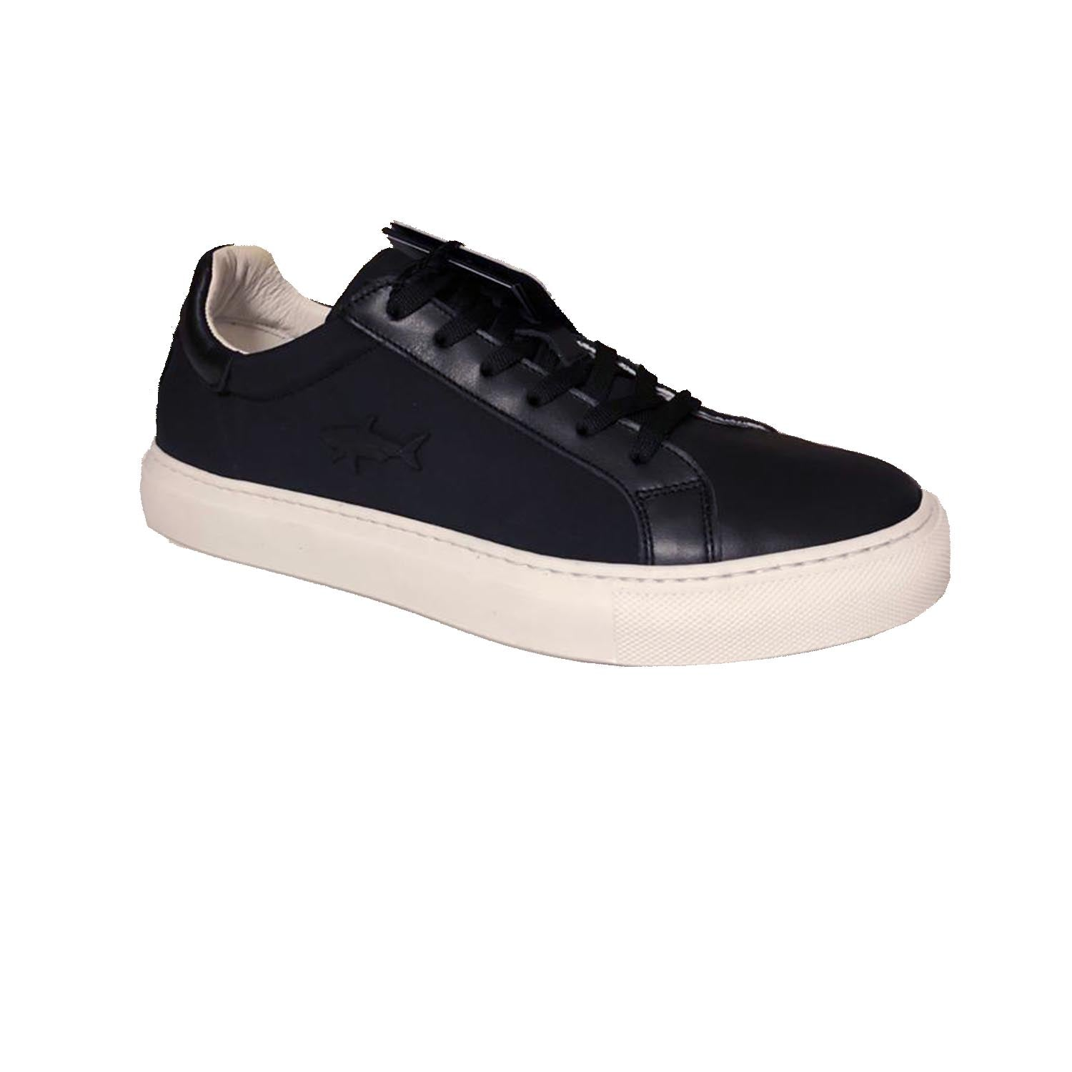 Paul & Shark Lace up Low Top Black Trainer