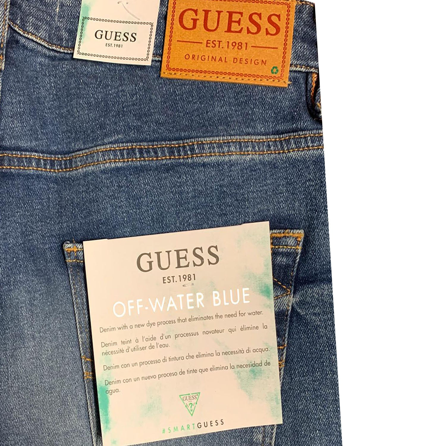 Guess Chris Super Skinny Off Water Blue Jeans