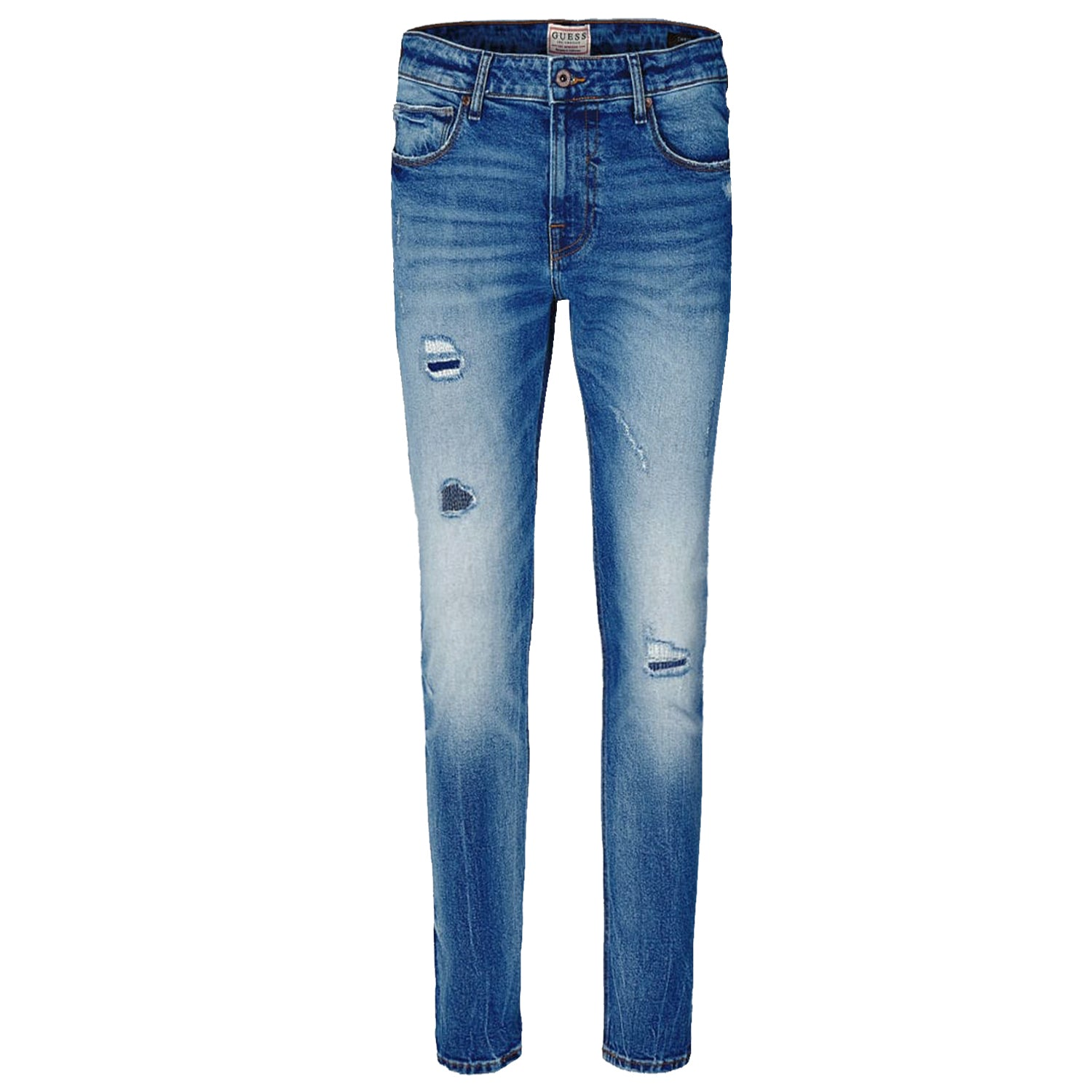 Guess Chris Skin Tight Abrasions Detail Denim Jeans