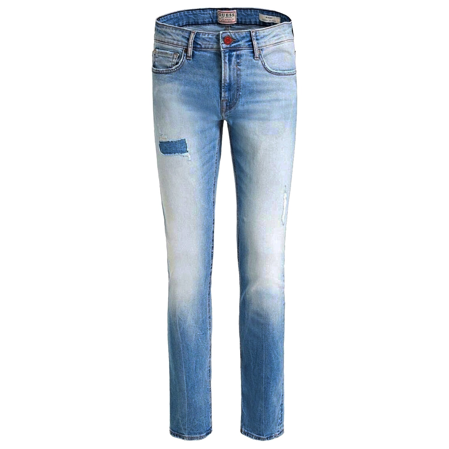 Guess Miami Super Skinny Washed Blue Jeans