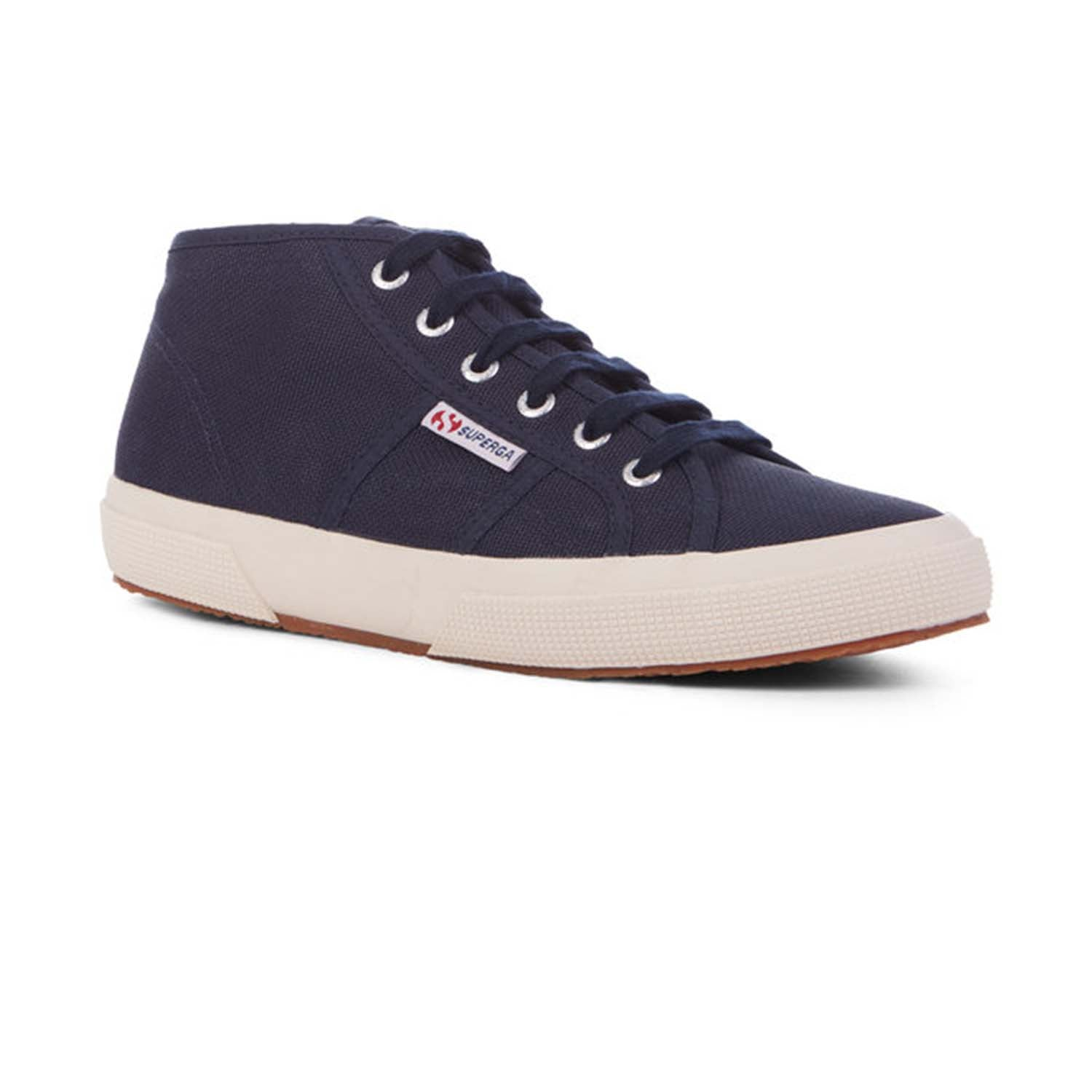 Superga Cotu Mid Top Canvas Lace up Trainer