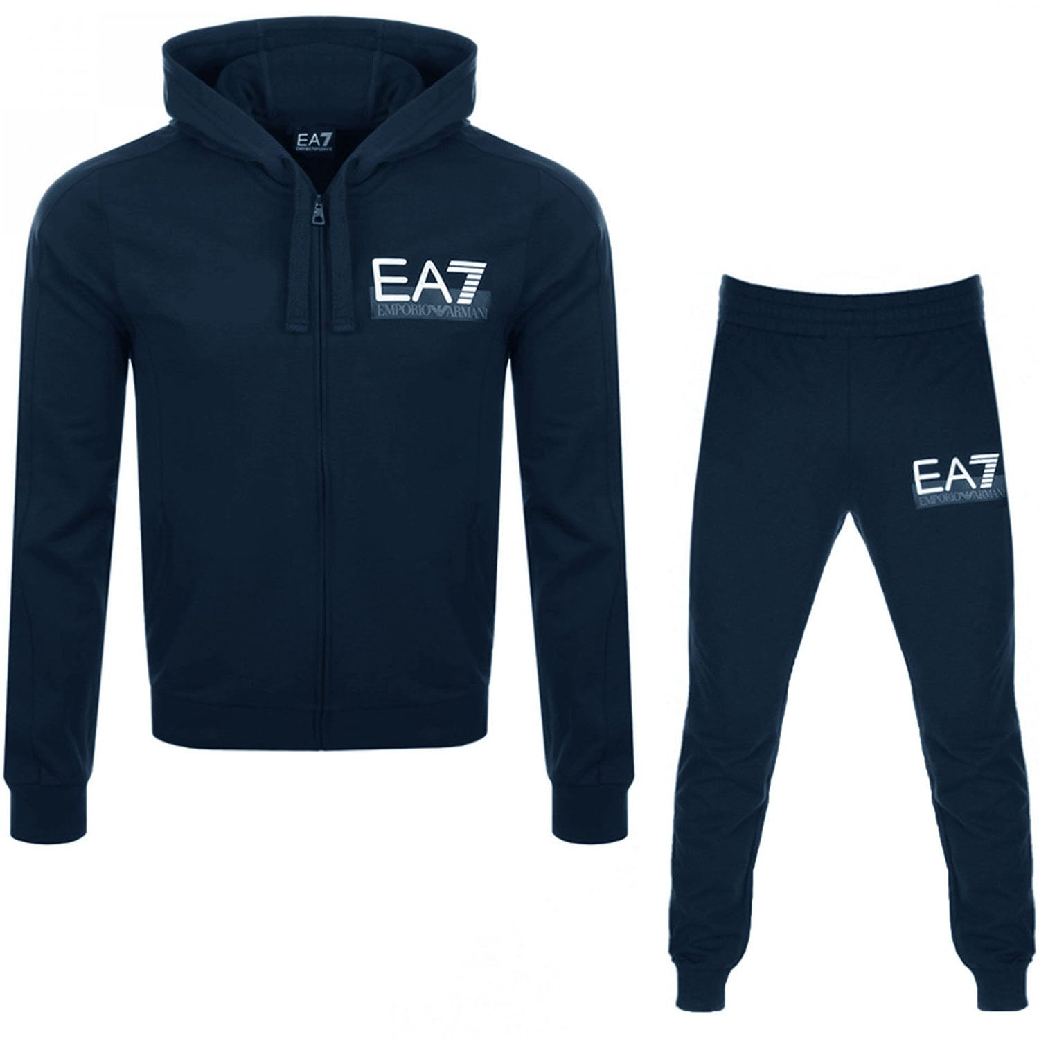 EA7 Emporio Armani Zip Up Hooded Tracksuit