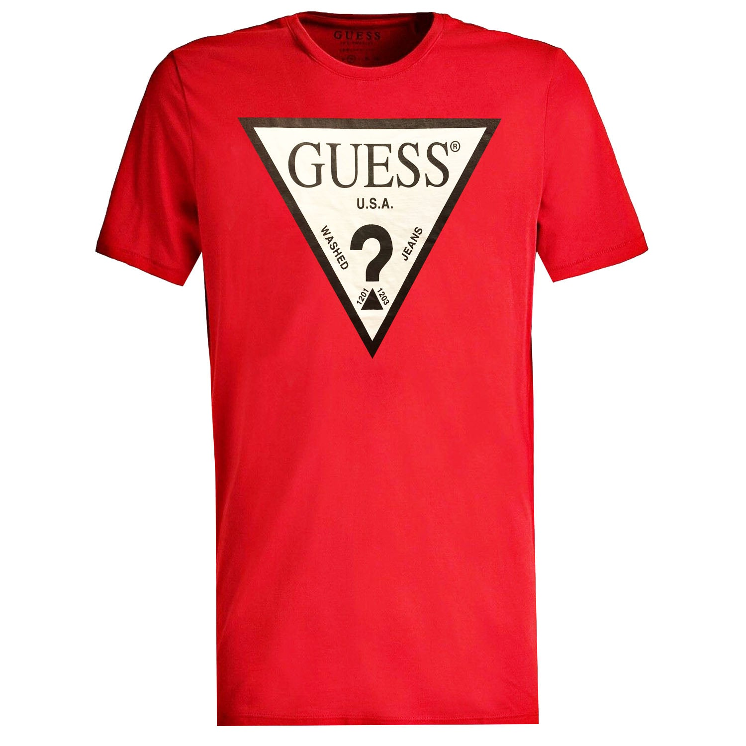 Guess Triangle Logo Detail T-Shirt