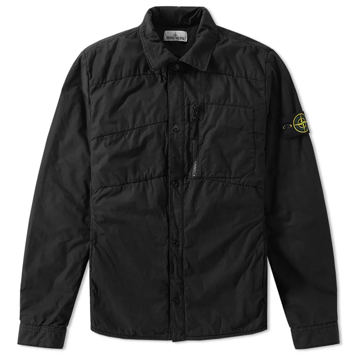 Stone Island Badge Logo Insulated Shirt Jacket