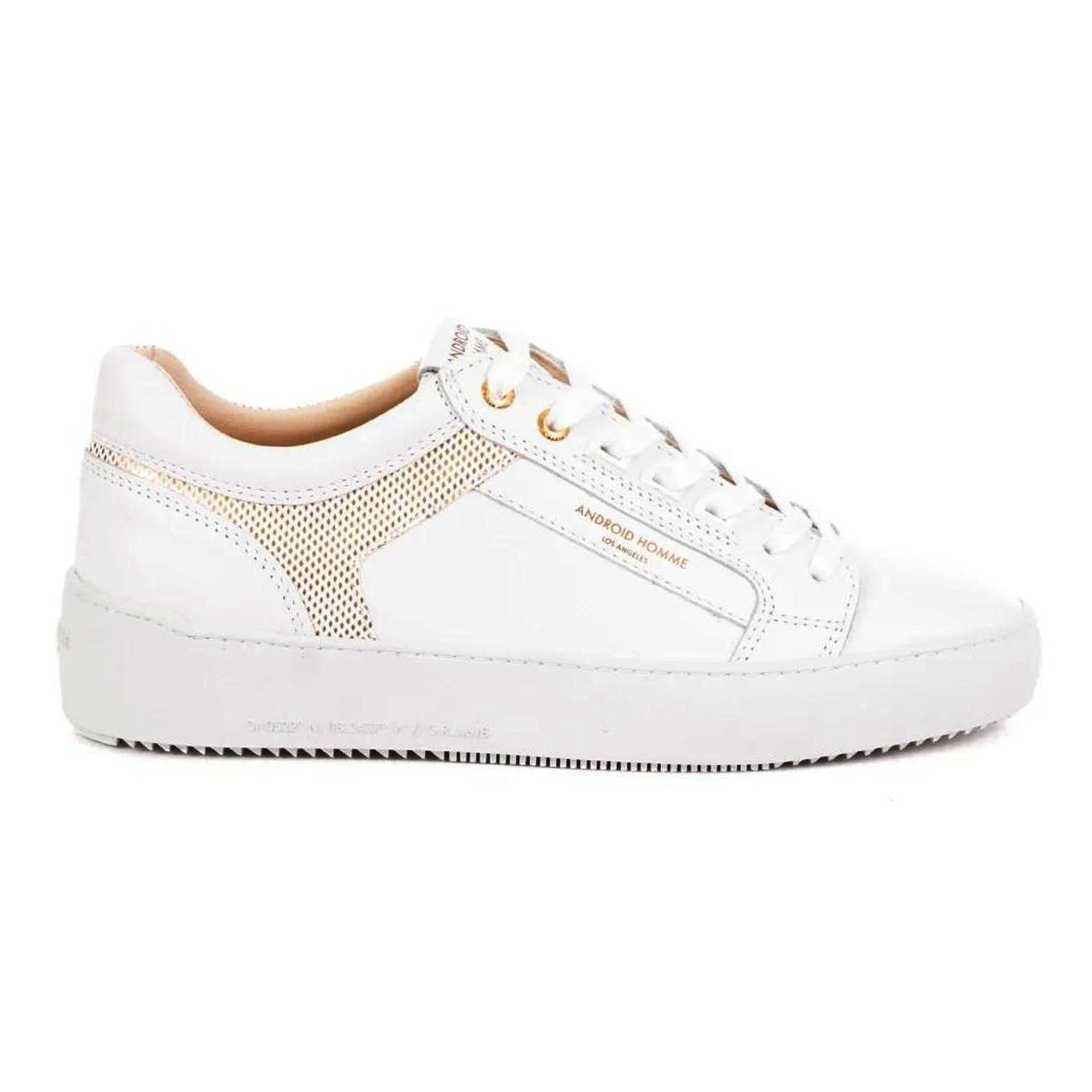 Android Homme Ghost White Gold Metal Venice Sneakers