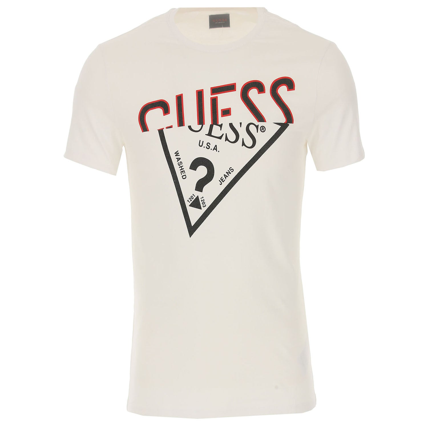 Guess Crew Neck Perspective Logo Detail T-Shirt