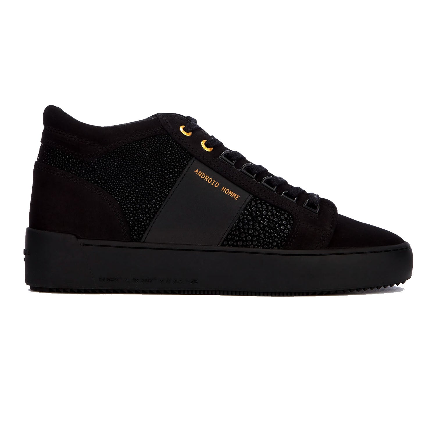 Android Homme Propulsion Mid Carbon Black Stingray Suede