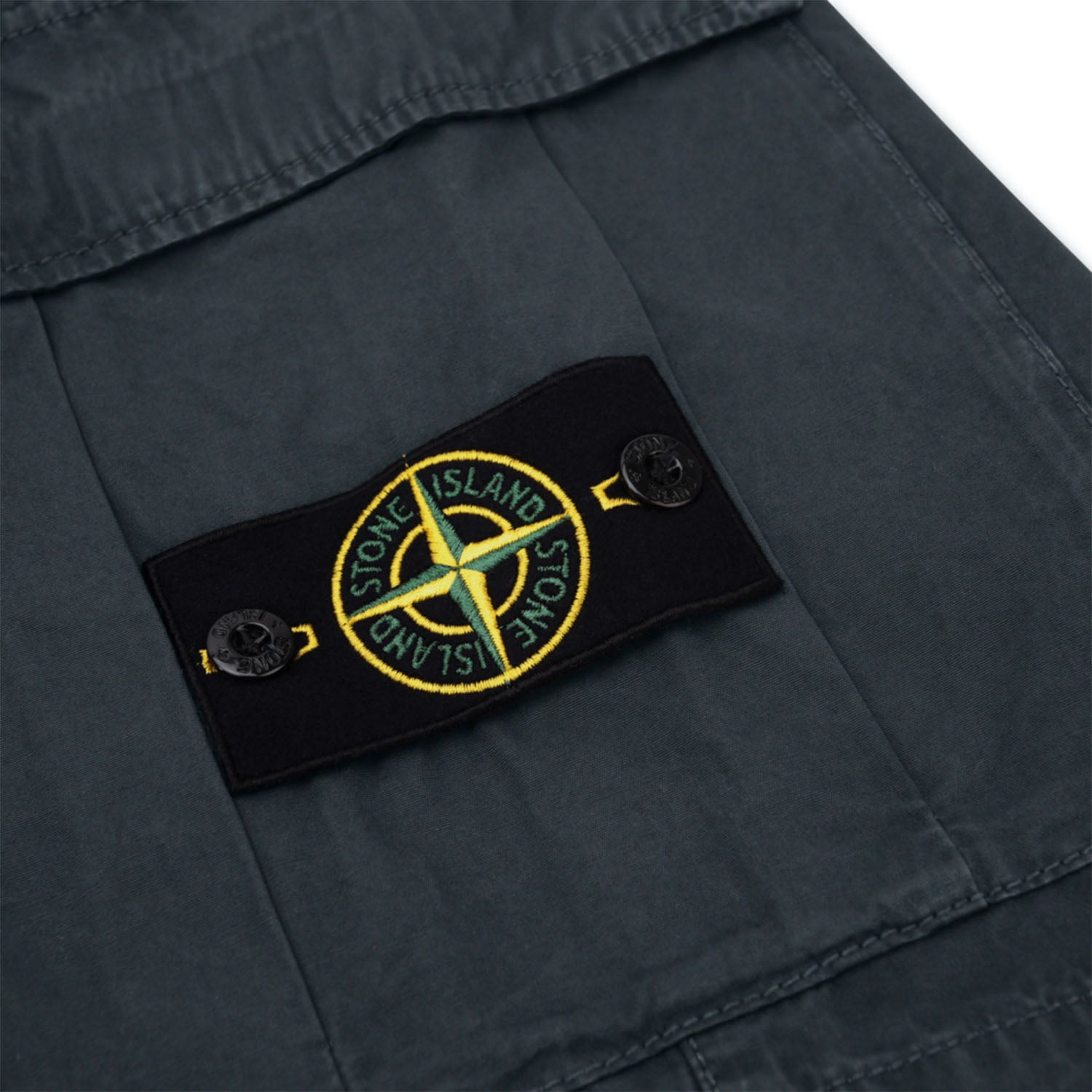 Stone Island Badge Logo Garment Dyed Shorts
