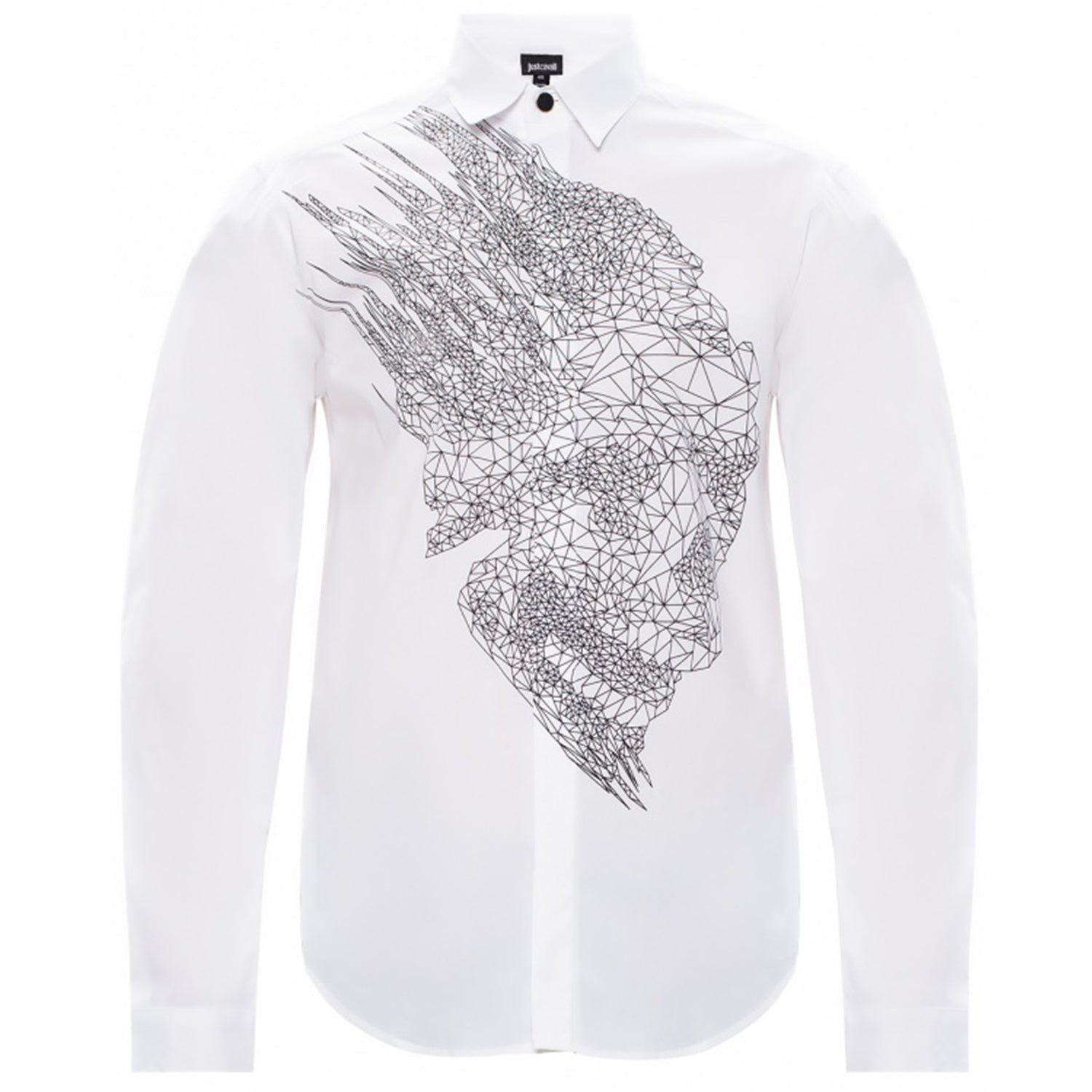Just Cavalli Abstract Print White Shirt