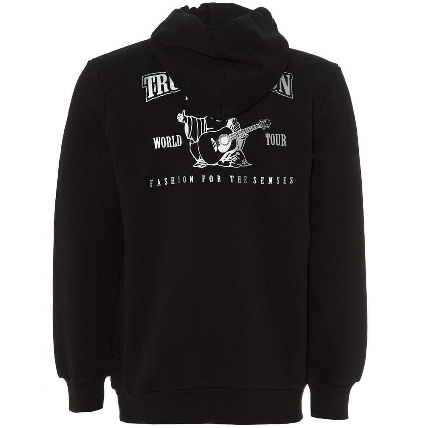 True Religion Black W/silver Core Pullover Hoodie