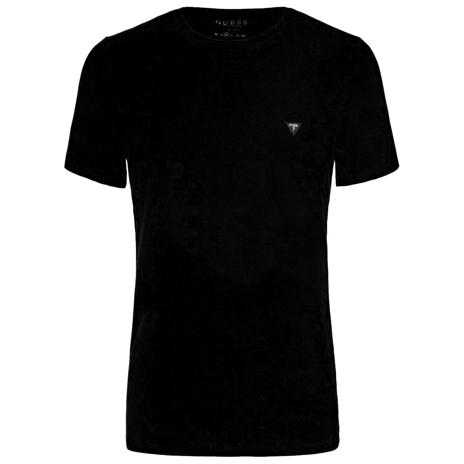Guess Extra Slim Fit Crew Neck Logo Patch T-Shirt