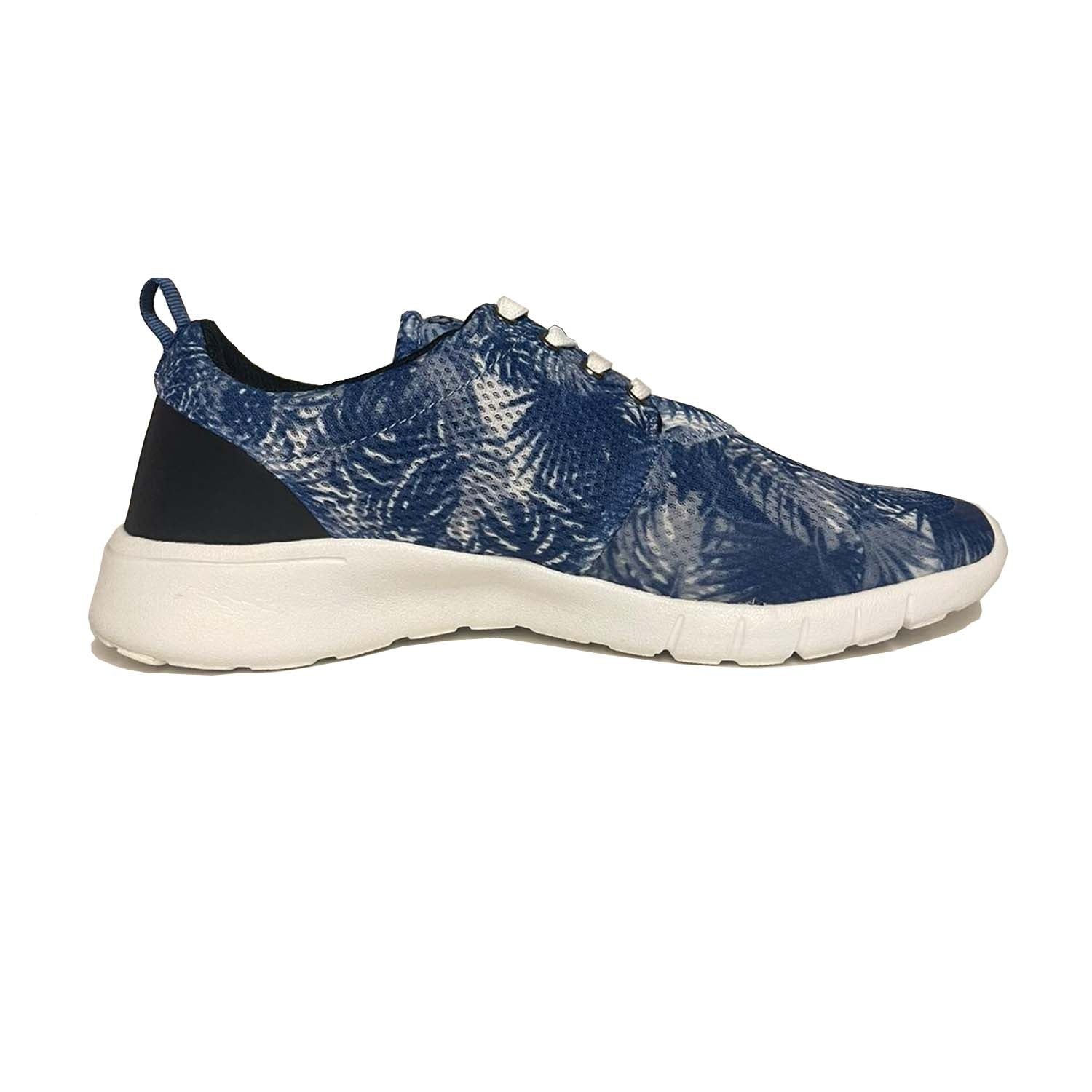 Guess Jedd Print Detail Lace up Mesh Trainer