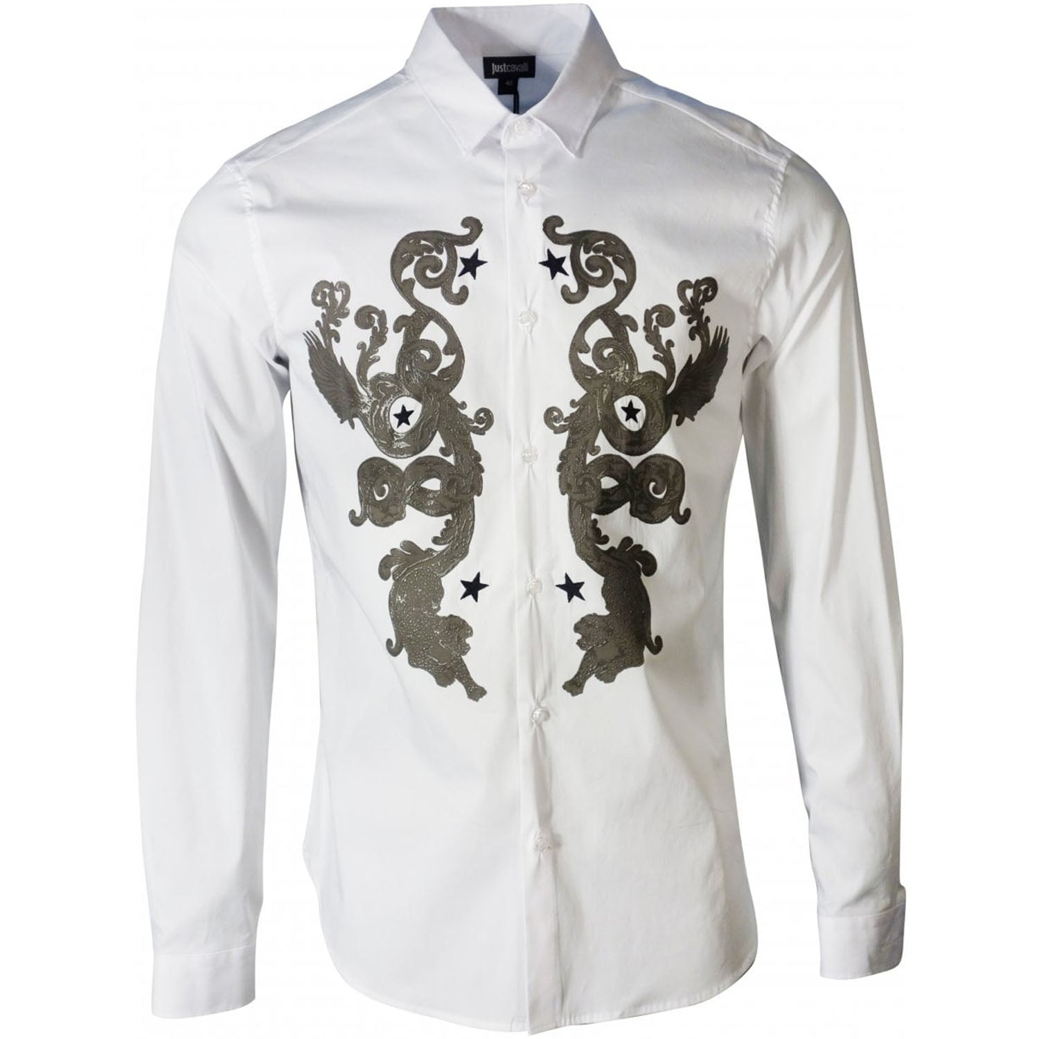 Just Cavalli Embroidery And Print Shirt