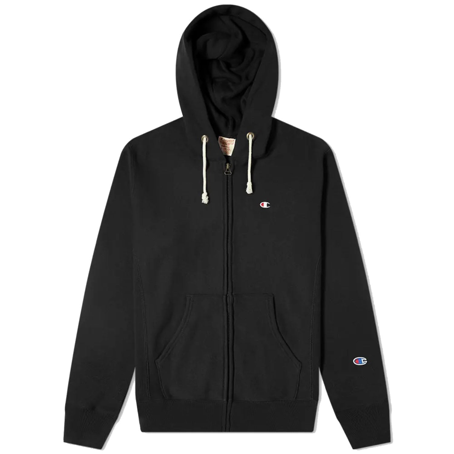 Champion Zip Up Black Hoodie
