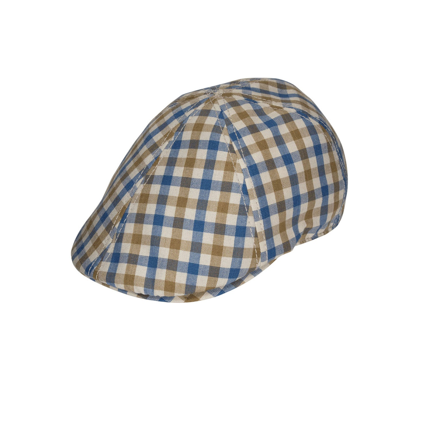 Goorin Bros. Harris Reed Check Pattern Duck Flat Cap