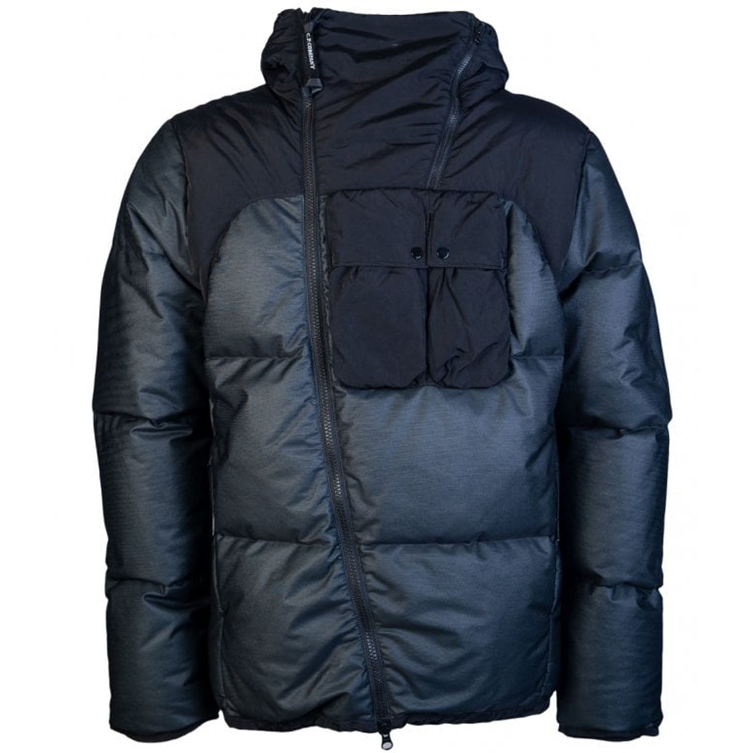 CP Company Bi-mesh Hooded Puffer jacket black
