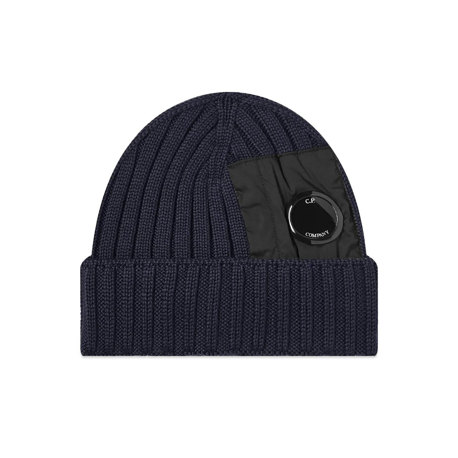 CP Company Extra Fine Knit Lens Beanie Hat