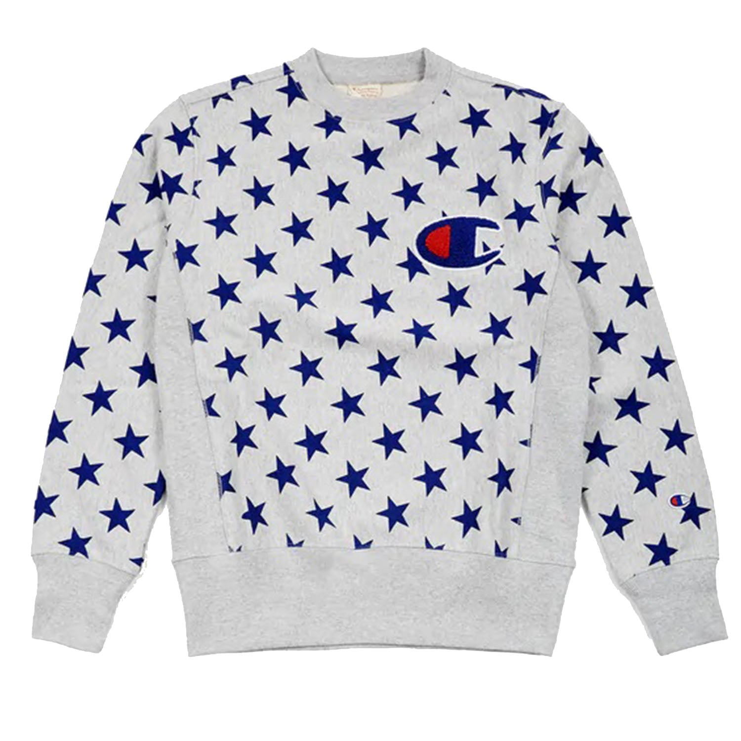 Champion All Over Star Print Grey Sweatshirt