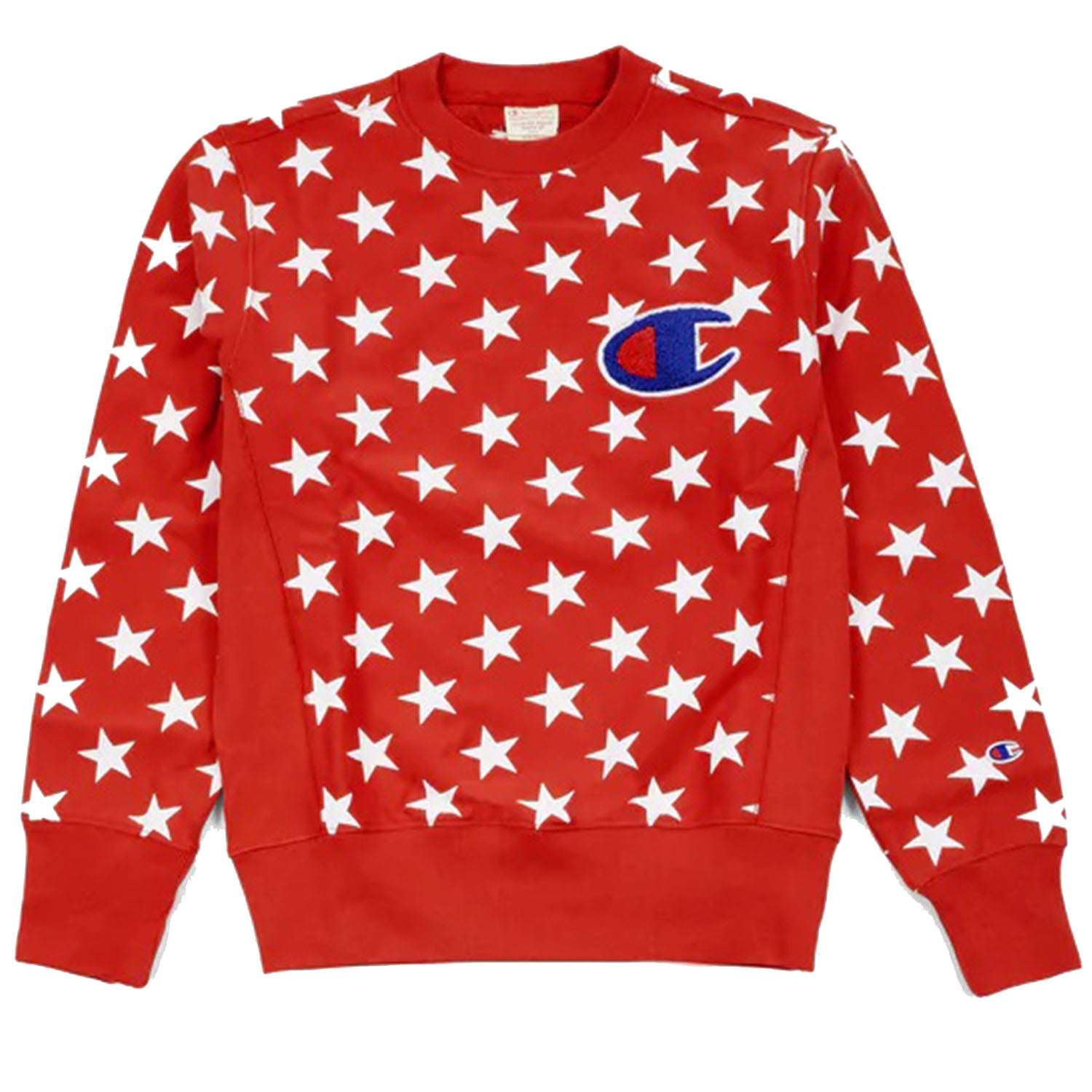 Champion All Over Star Print Red Sweatshirt