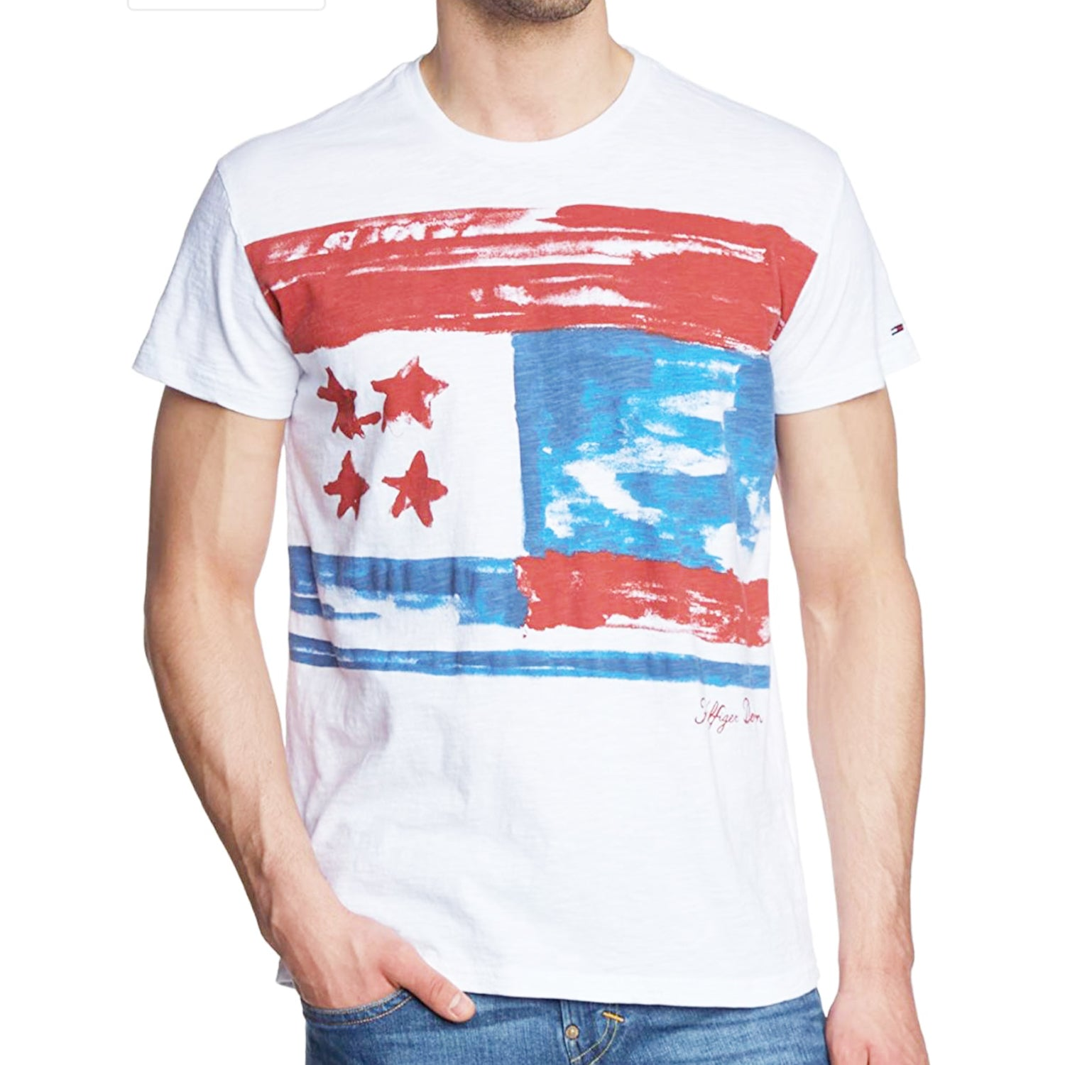 Hilfiger Denim Flag 3 Crew Neck T-Shirt