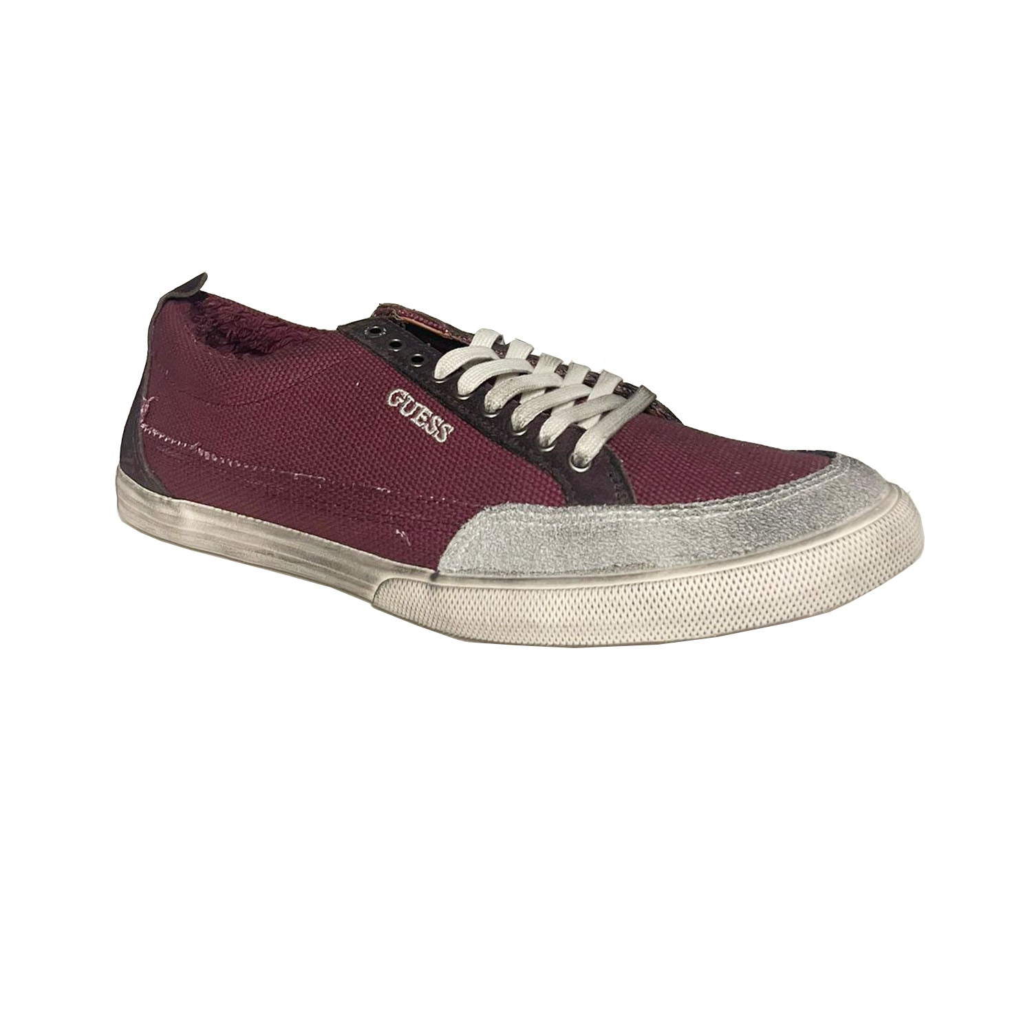 Guess Branding Low-Top Mid Leather Trainer