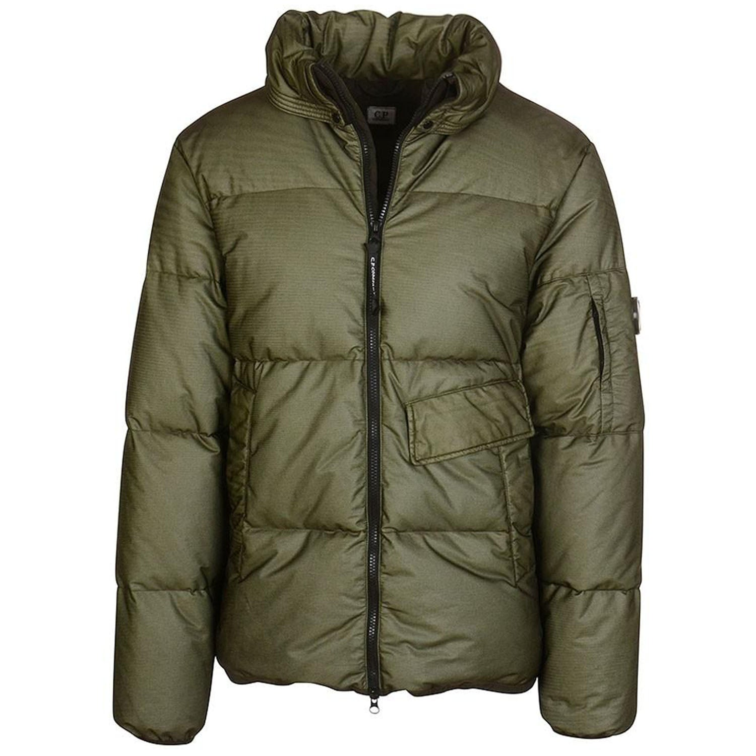 CP Company Short Puffer Jacket Green