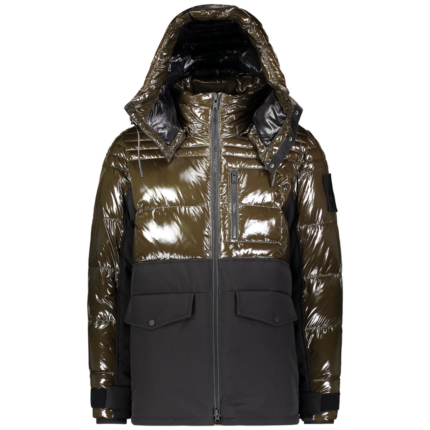 Moose Knuckles Black & Army Green Dugald Jacket