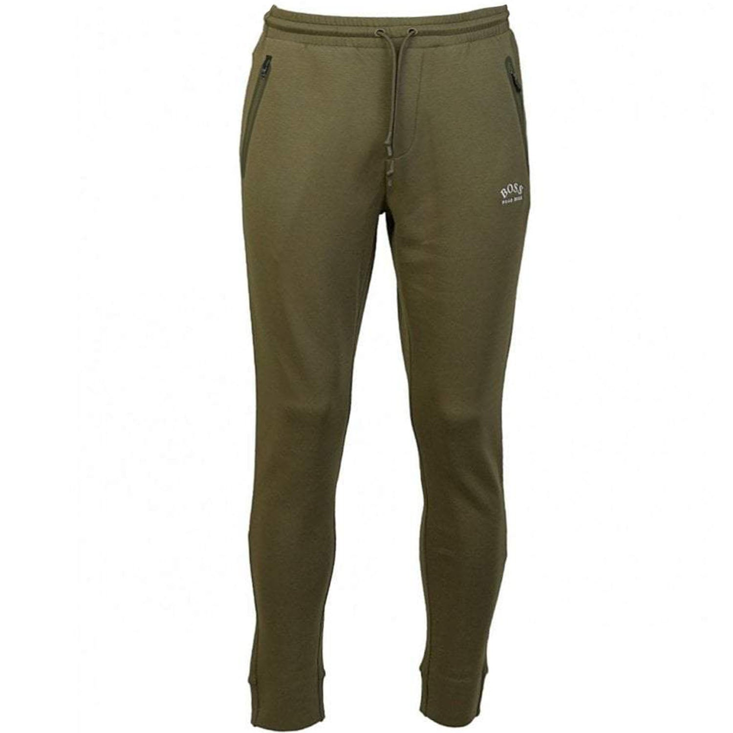 Hugo Boss Half-Cuffed Jogging Trousers with Curved Logo