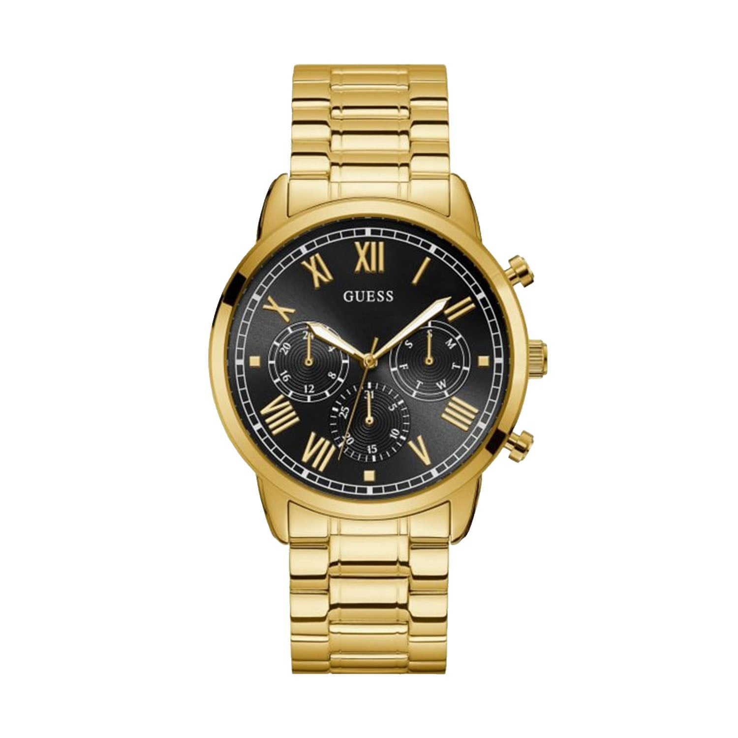 Guess Stainless Steel Sunray Multi-function Watch