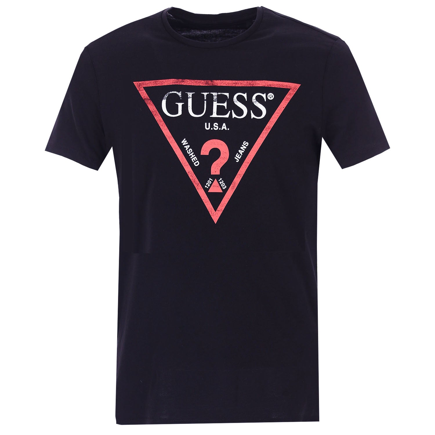 Guess Slim Fit Front Triangle Logo T-Shirt