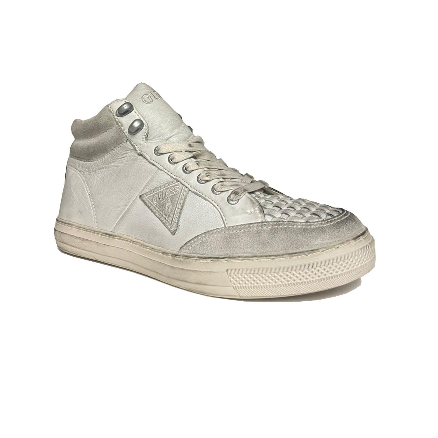Guess Hunter Embroidered Patch Logo High Top Trainer