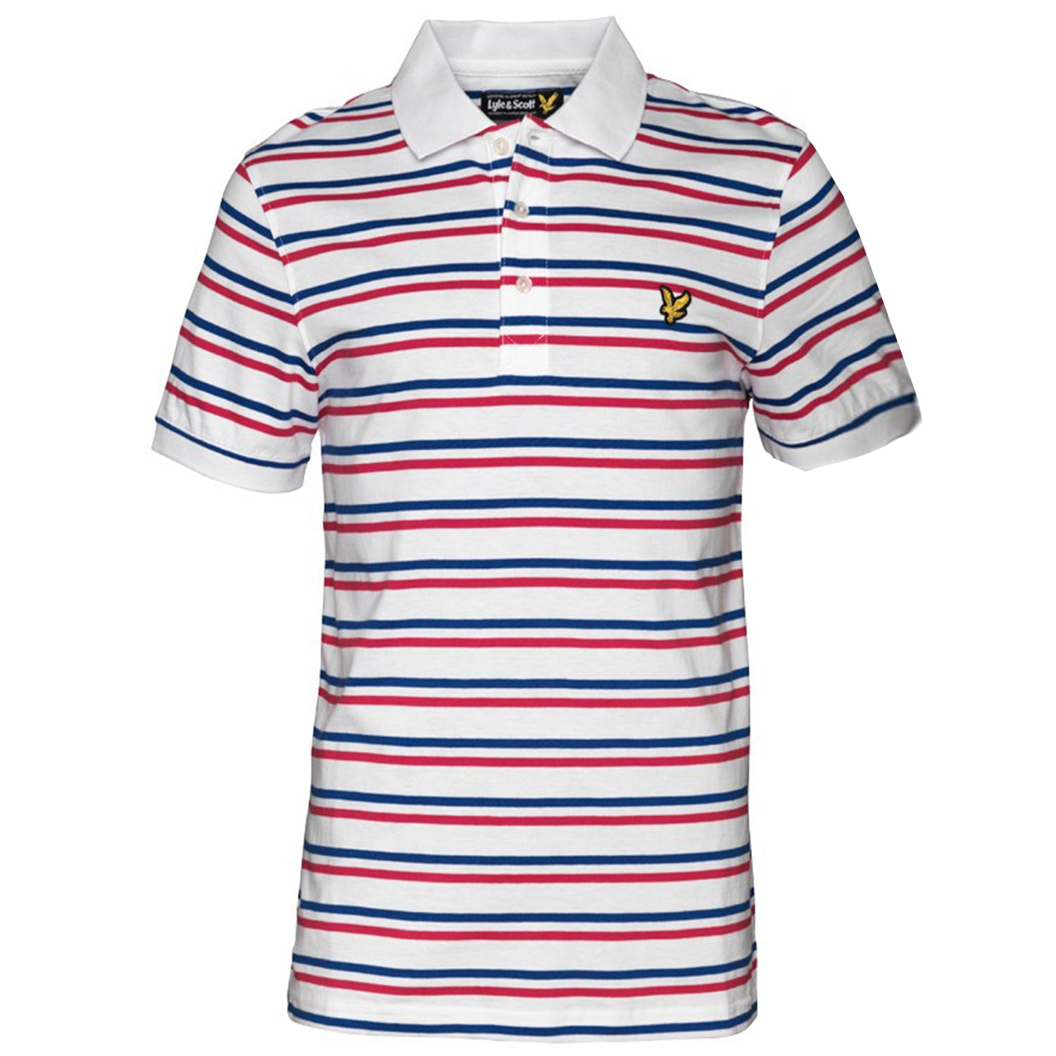 Lyle & Scott Jersey Tram Stripe Polo T-Shirt