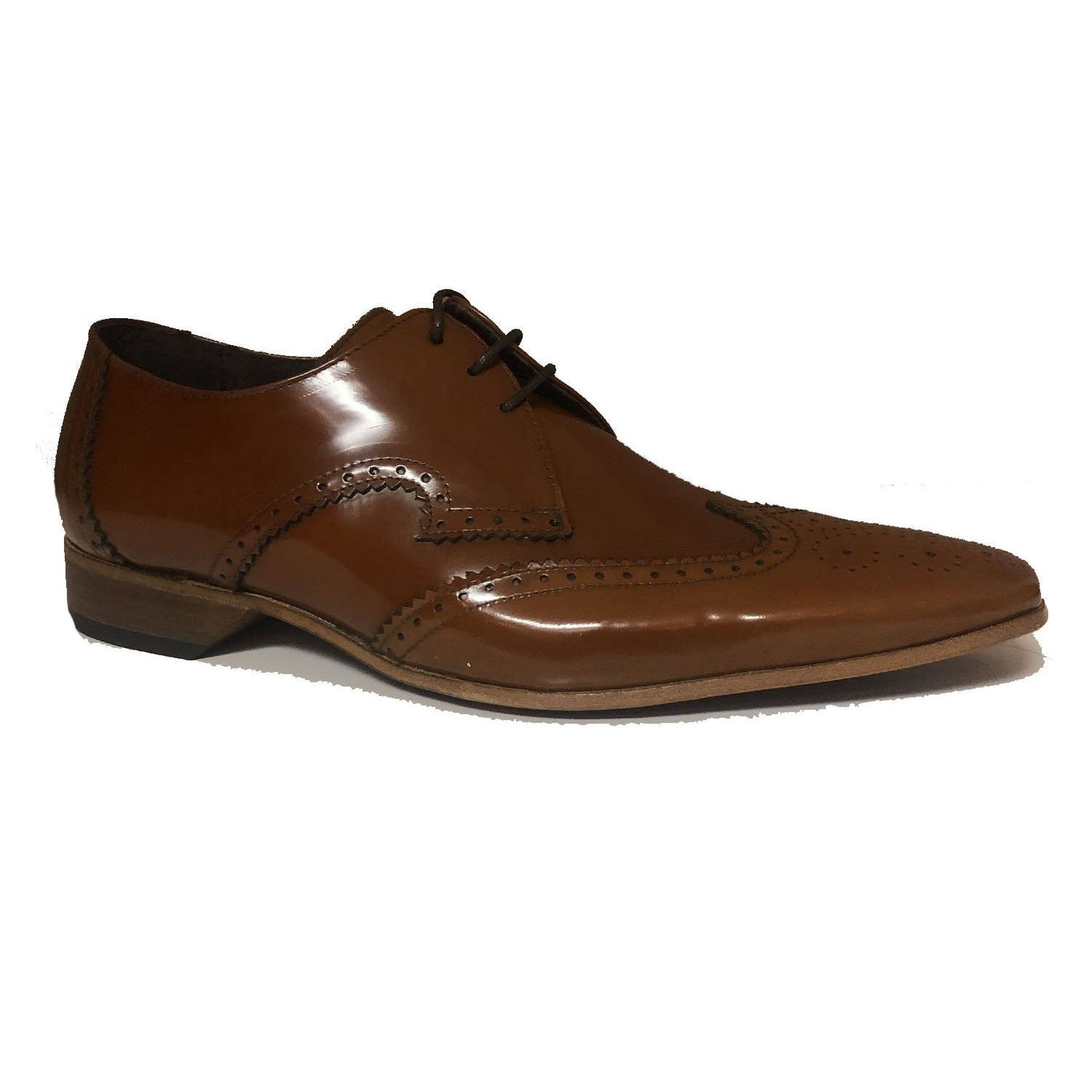 Jeffery West Brogue Lace up Shoe College Honey