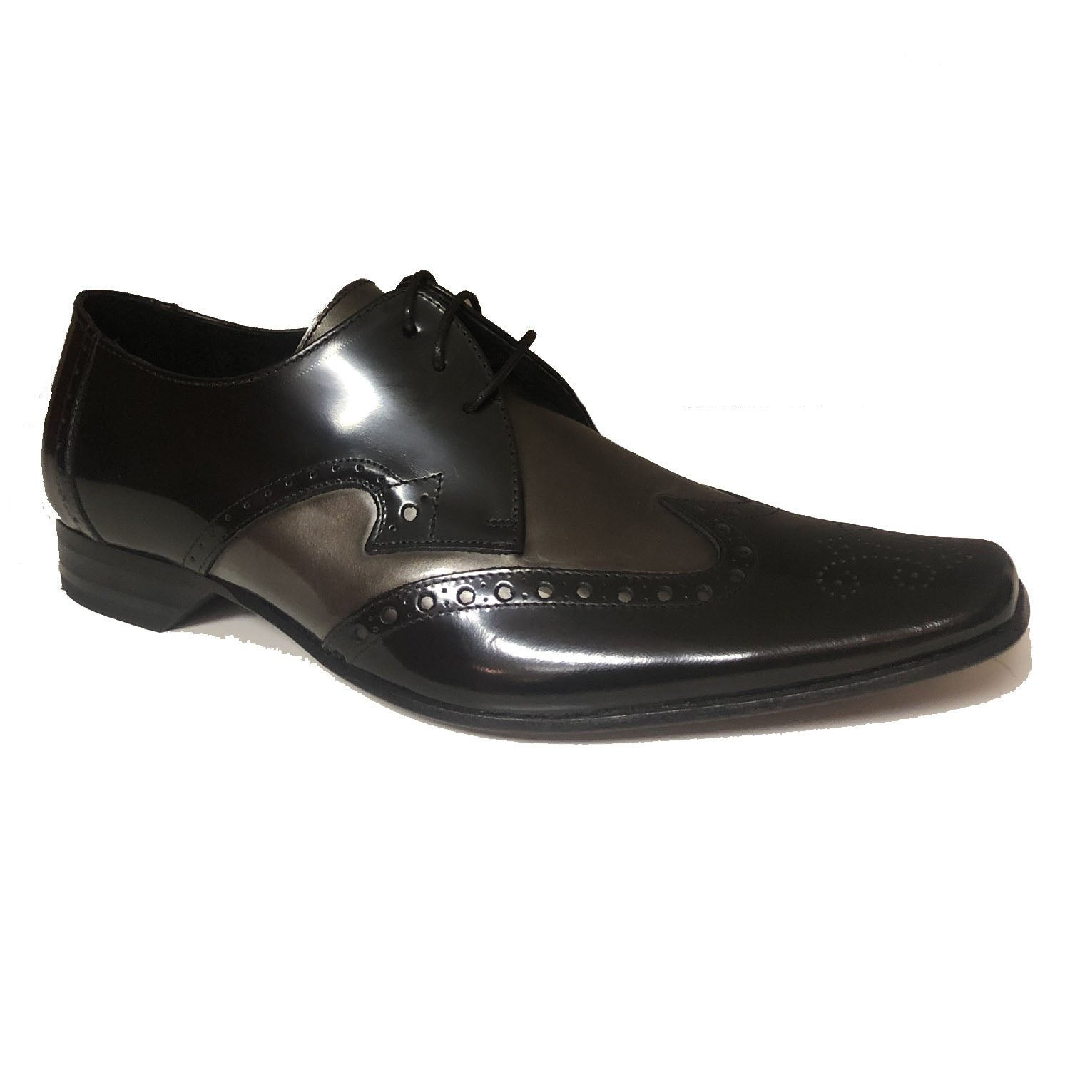 Jeffery West Black Silver Lace up