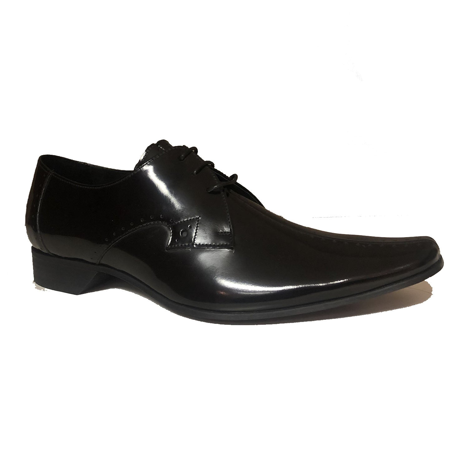 Jeffery West Centre Sim Black Lace up Shoe