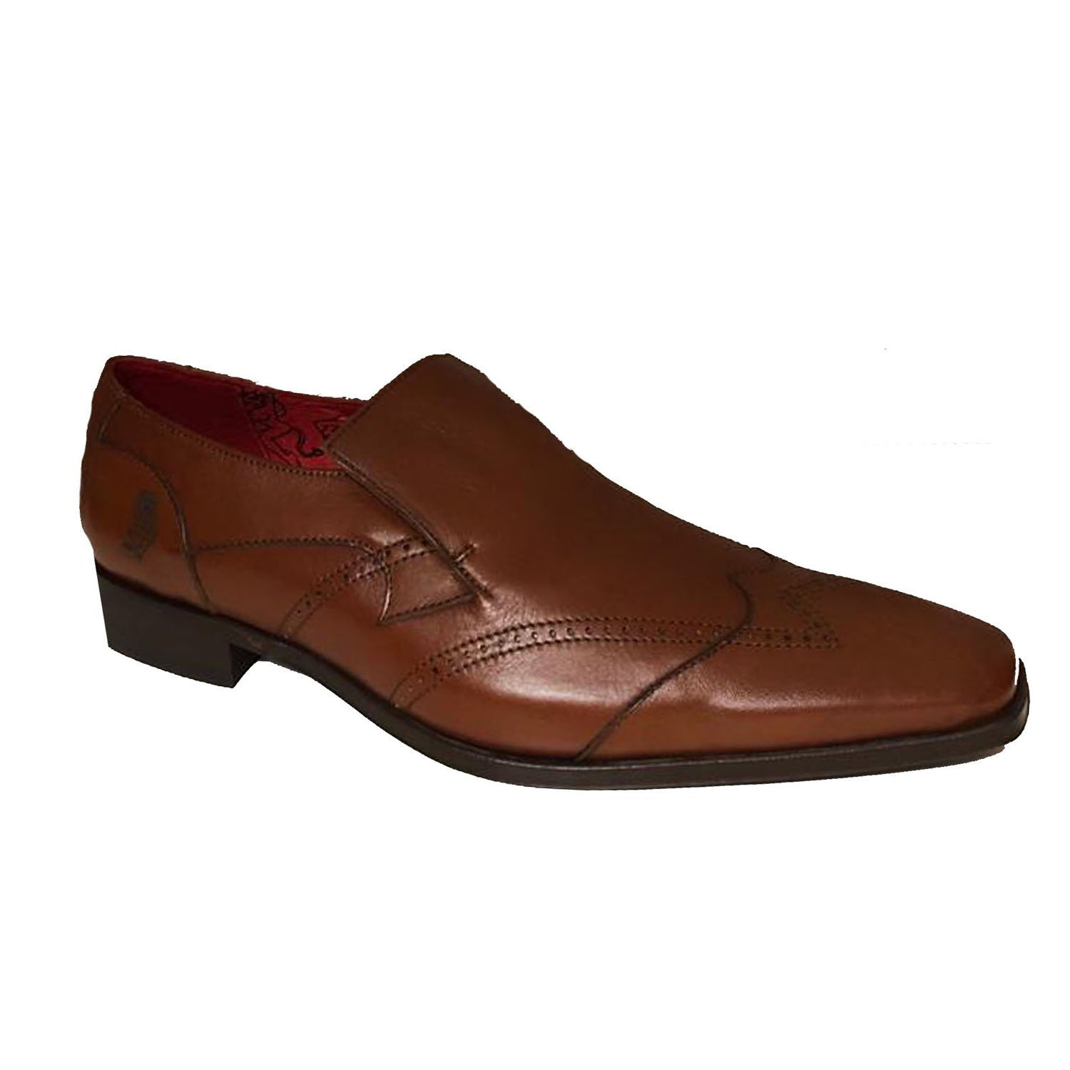 Jeffery West Damasco Tan Loafer Shoe
