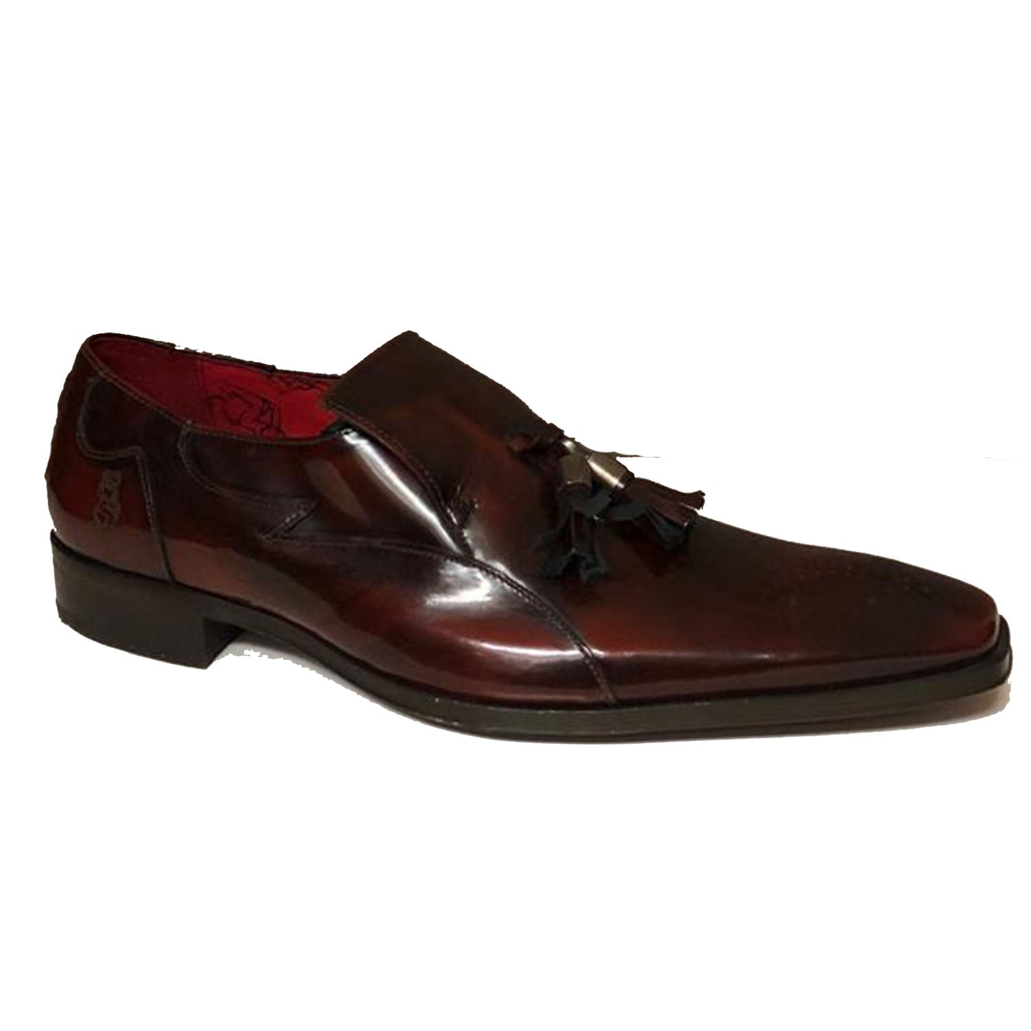 Jeffery West Burgundy Tassel Loafer