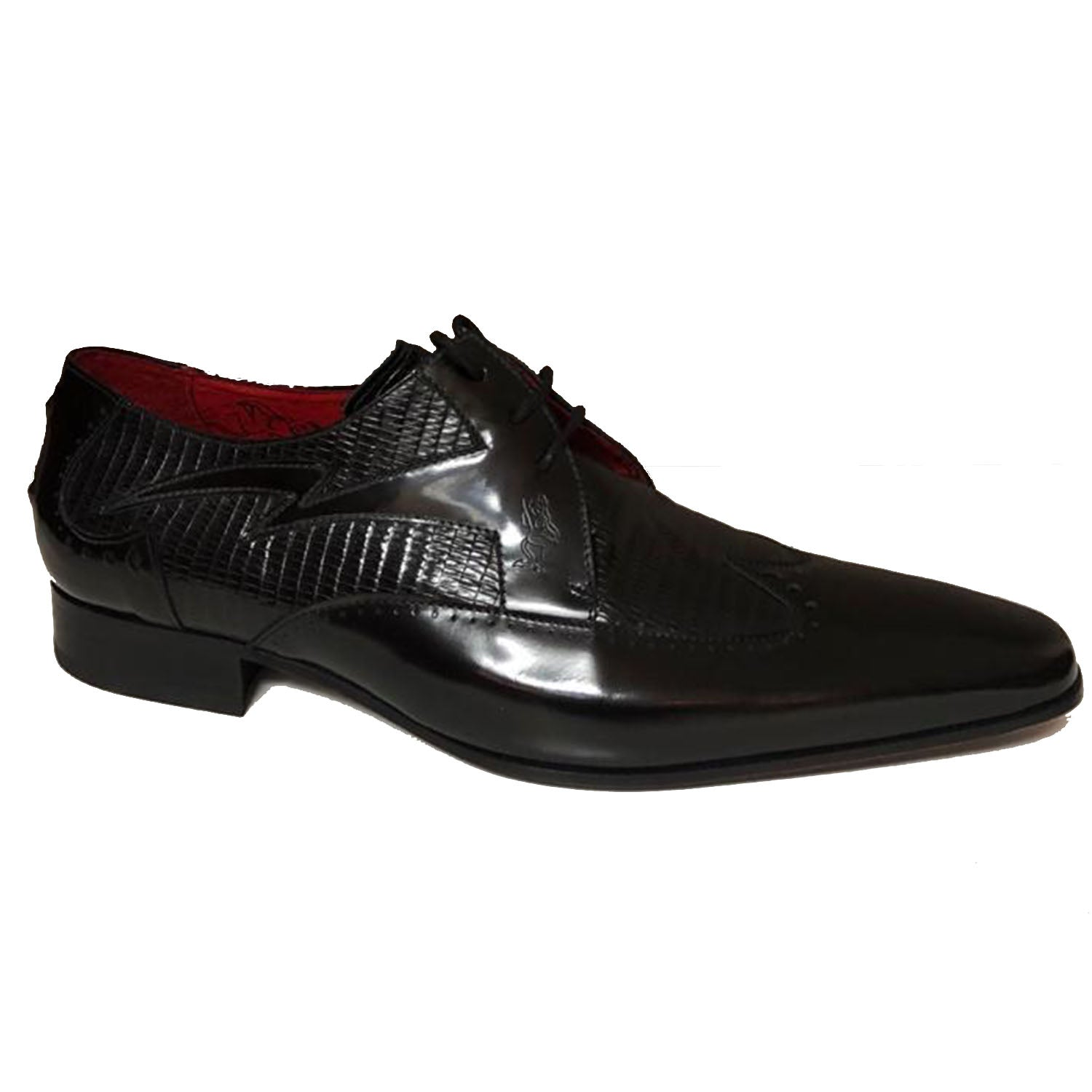Jeffery West Black Iguana Lace up Shoe