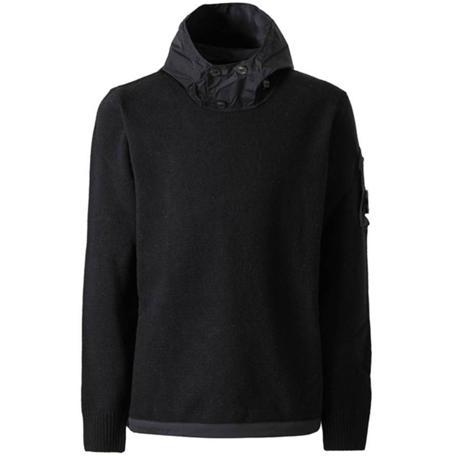 CP Company Knit Hooded Black