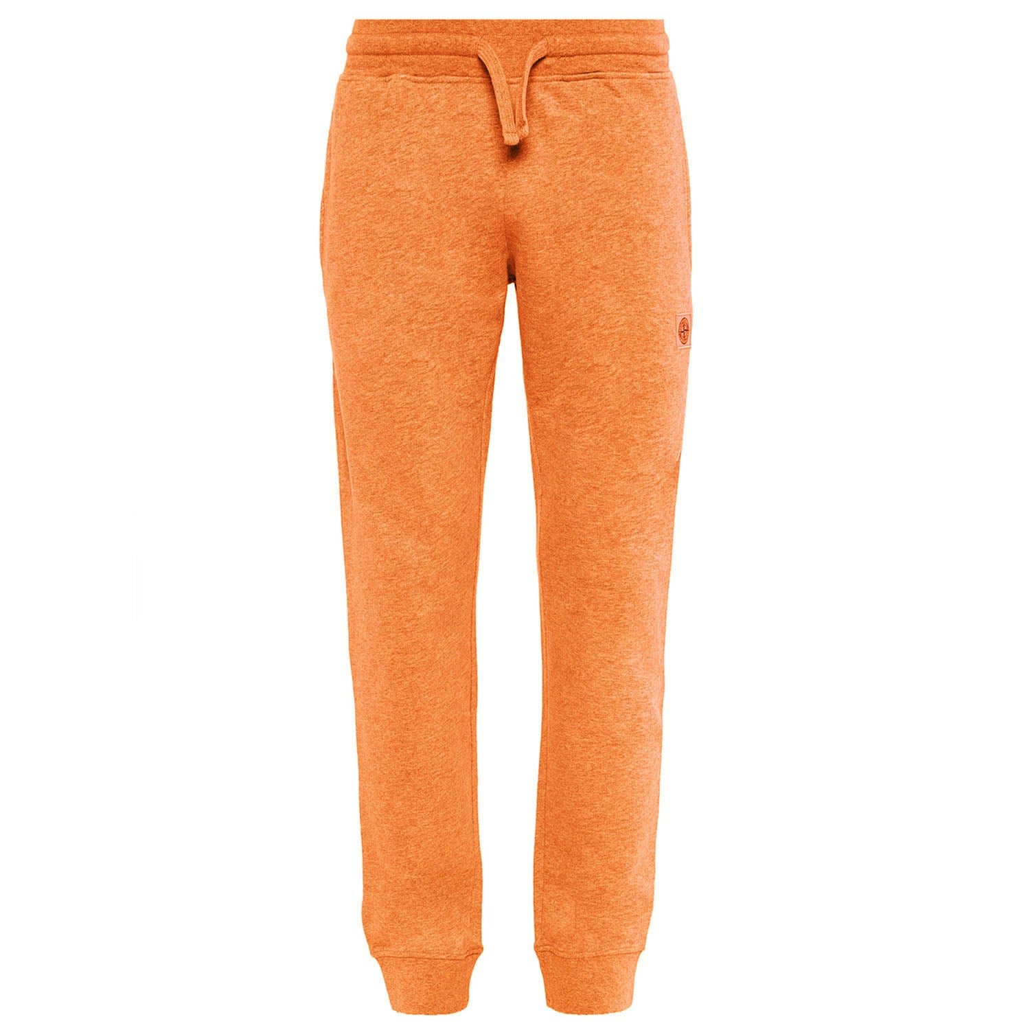 Stone Island Embroidered Logo Patch Sweatpants Orange