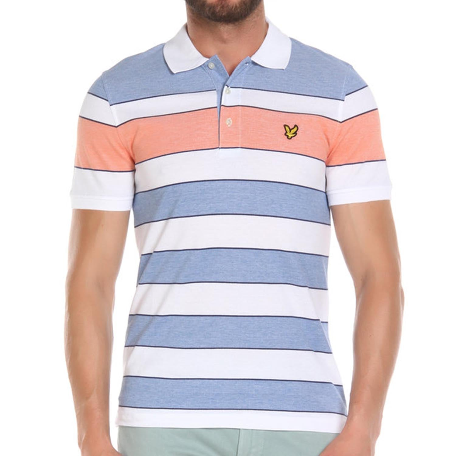 Lyle & Scot Oxford Wide Stripe Polo T-Shirt