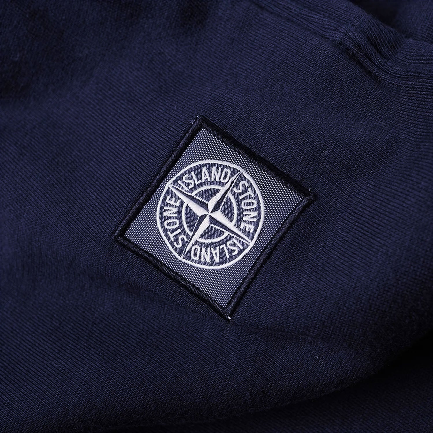 Stone Island Embroidered Patch Logo Sweatpants Navy