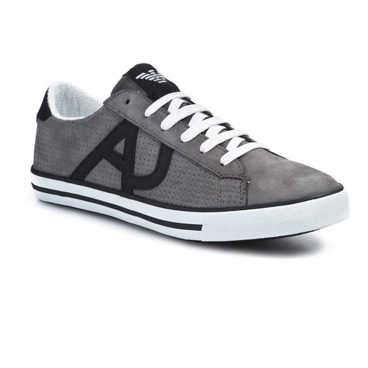 Armani Jeans Patch Logo Lace up Trainers