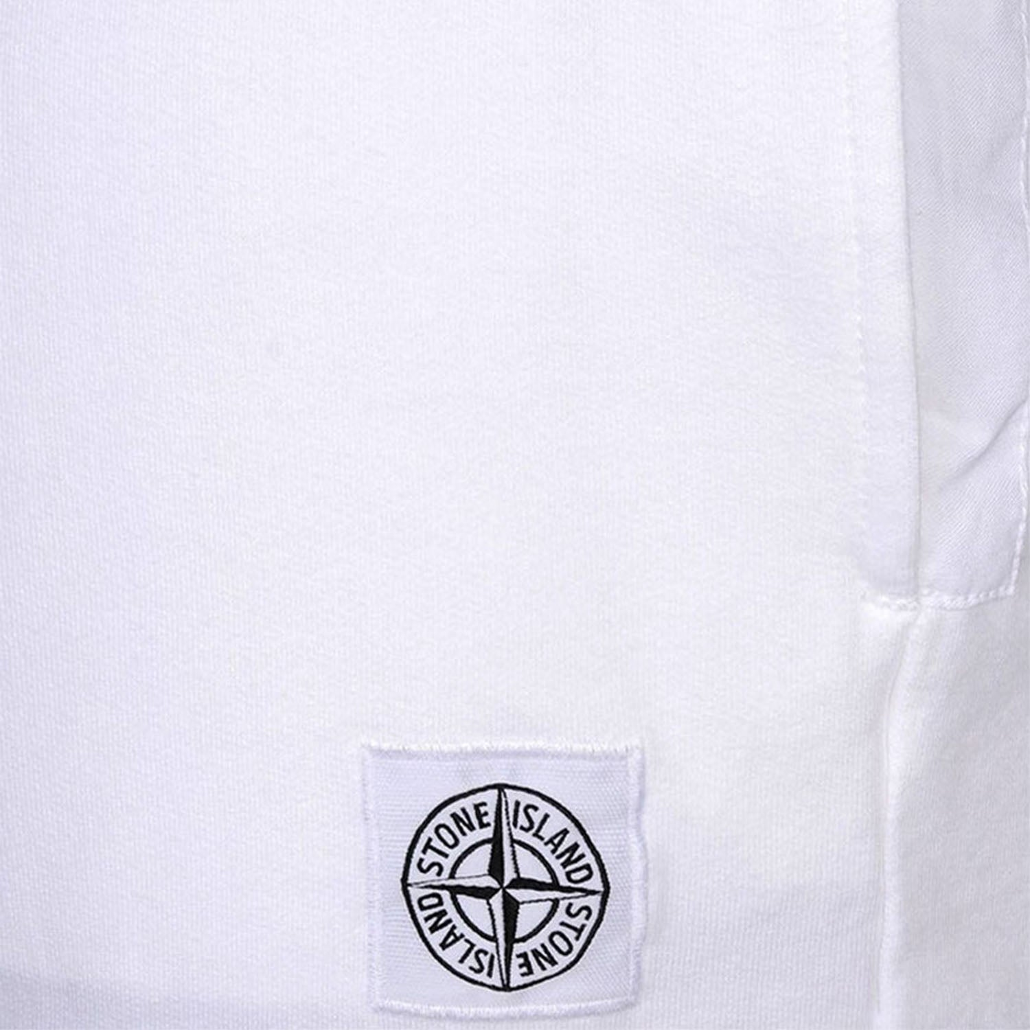 Stone Island Embroidered Logo Patch Sweatpants White