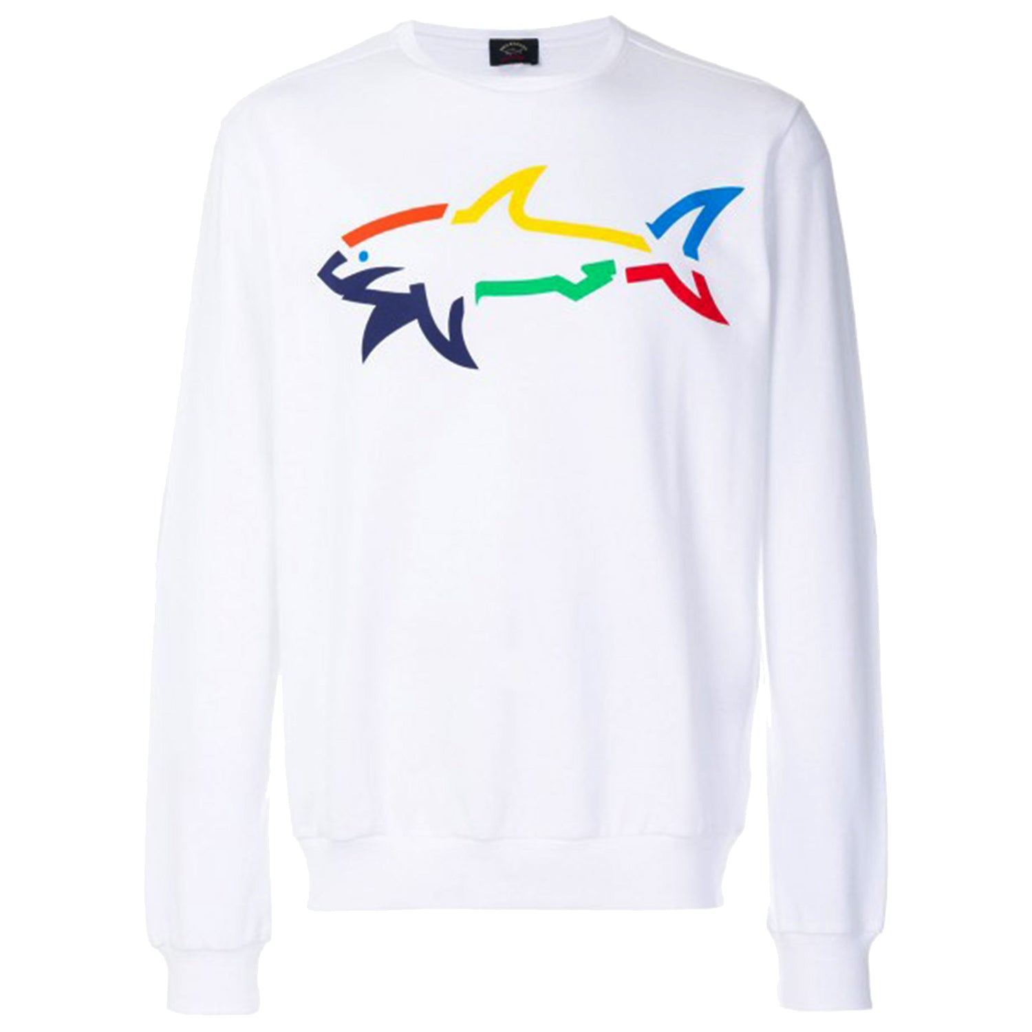 Paul & Shark Rainbow Shark Print Sweatshirt