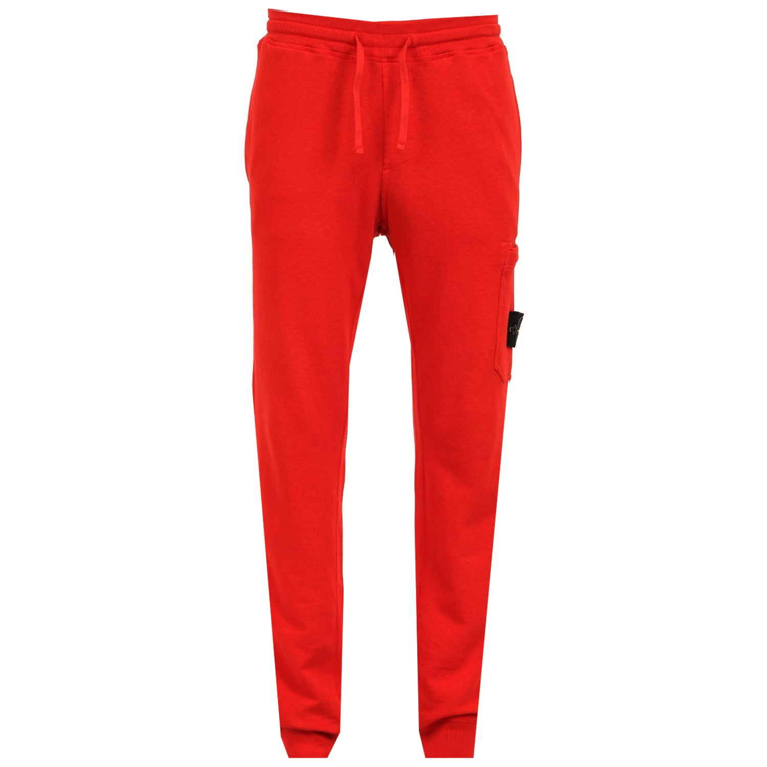 Stone Island Logo Garment Dyed Sweatpants Red