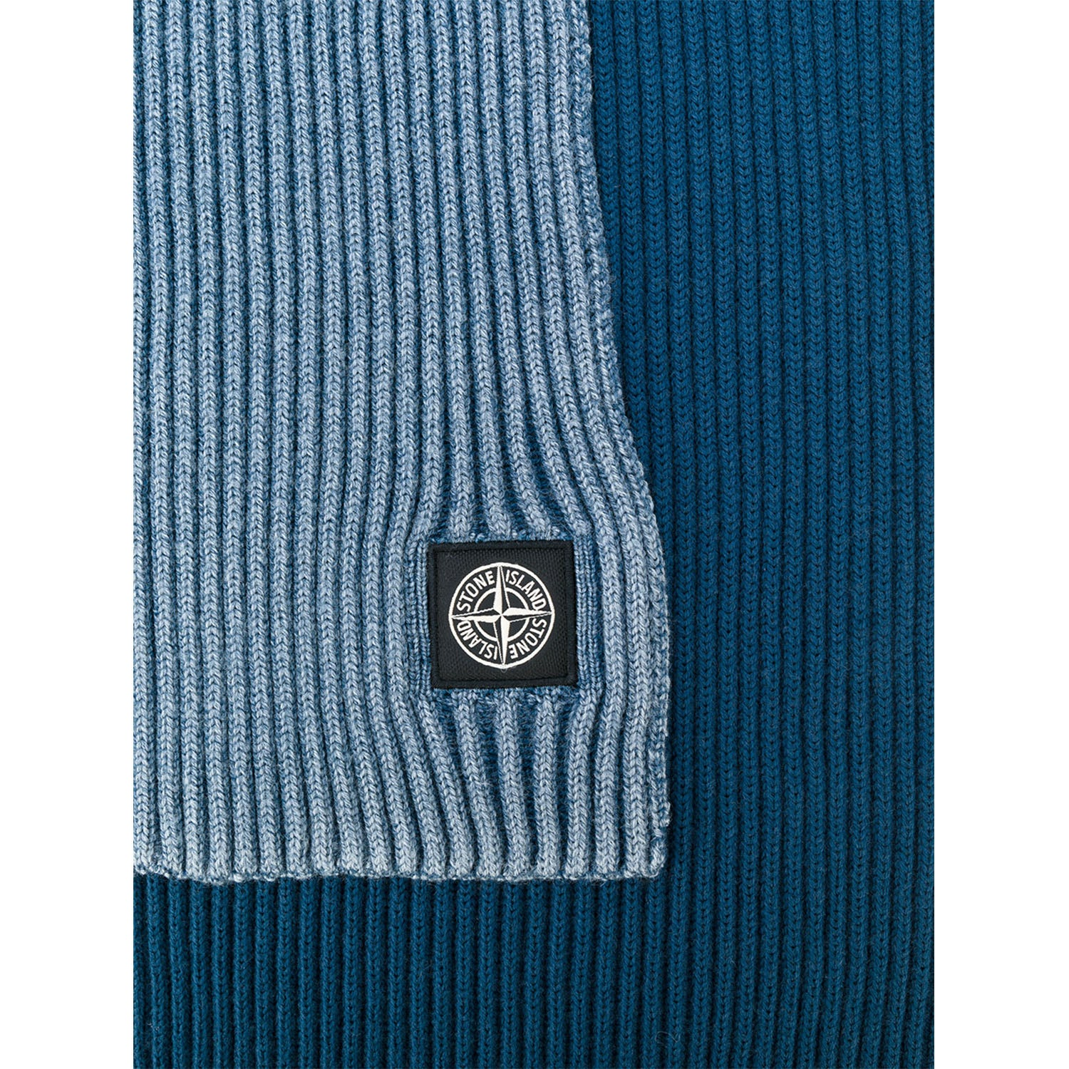 Stone Island Embroidered  Logo Ribbed Scarf